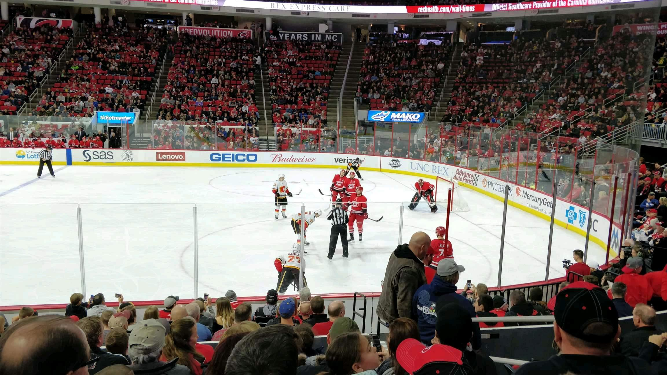 PNC Arena Section 117 Row M Seat 3