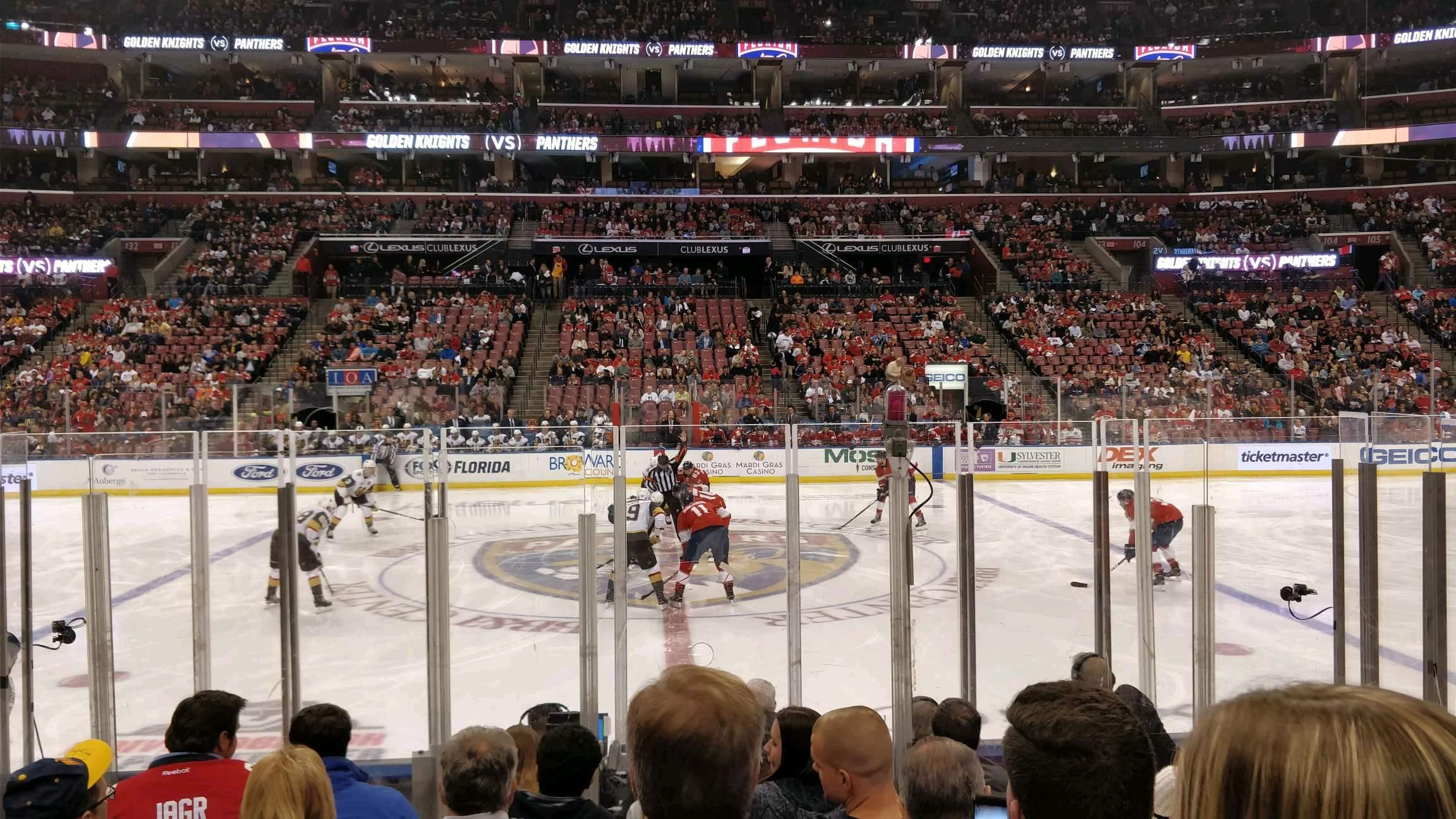 BB&T Center Section 118 Row 8 Seat 7