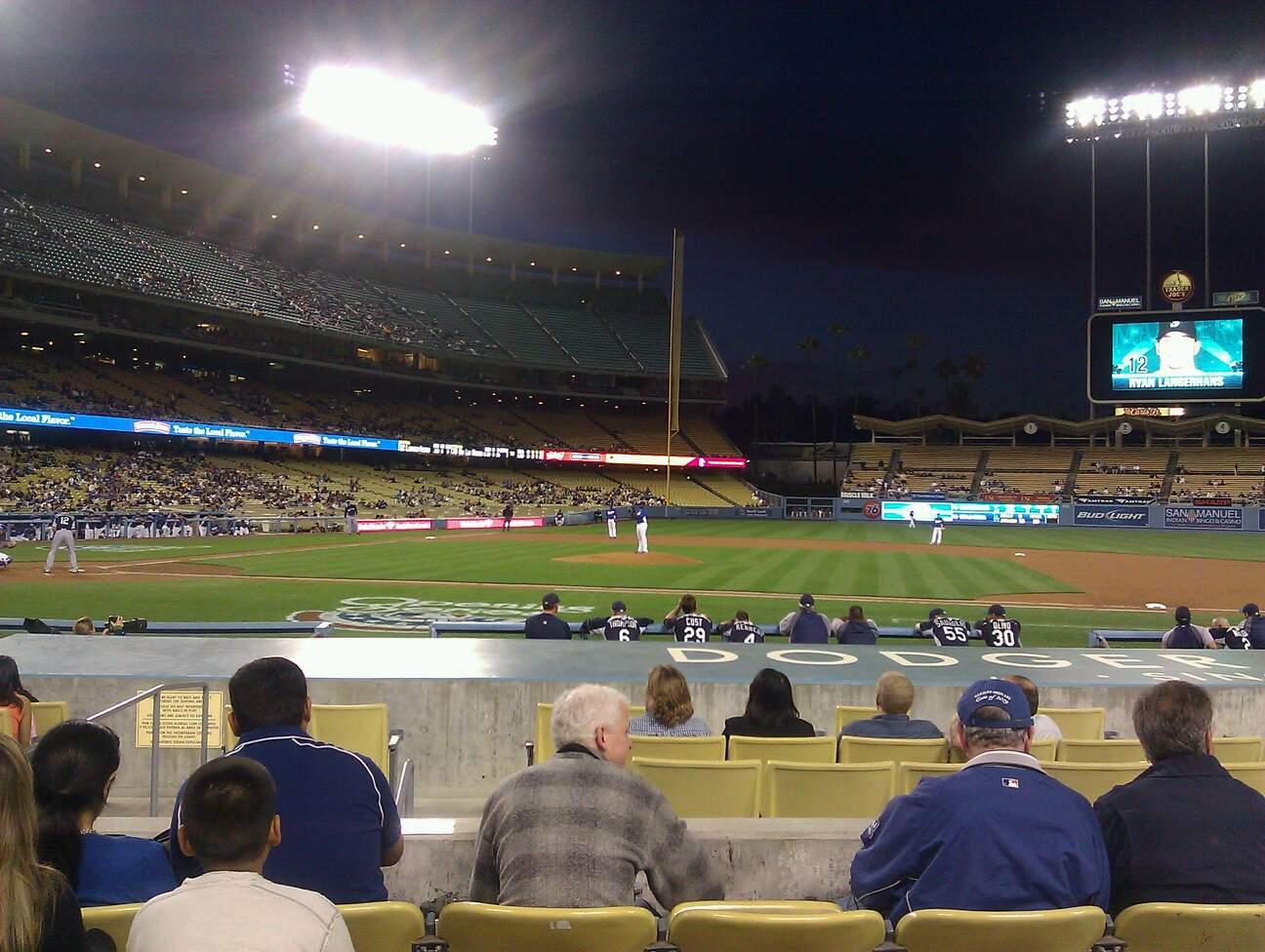 Dodger Stadium Section 18FD Row E Seat 6