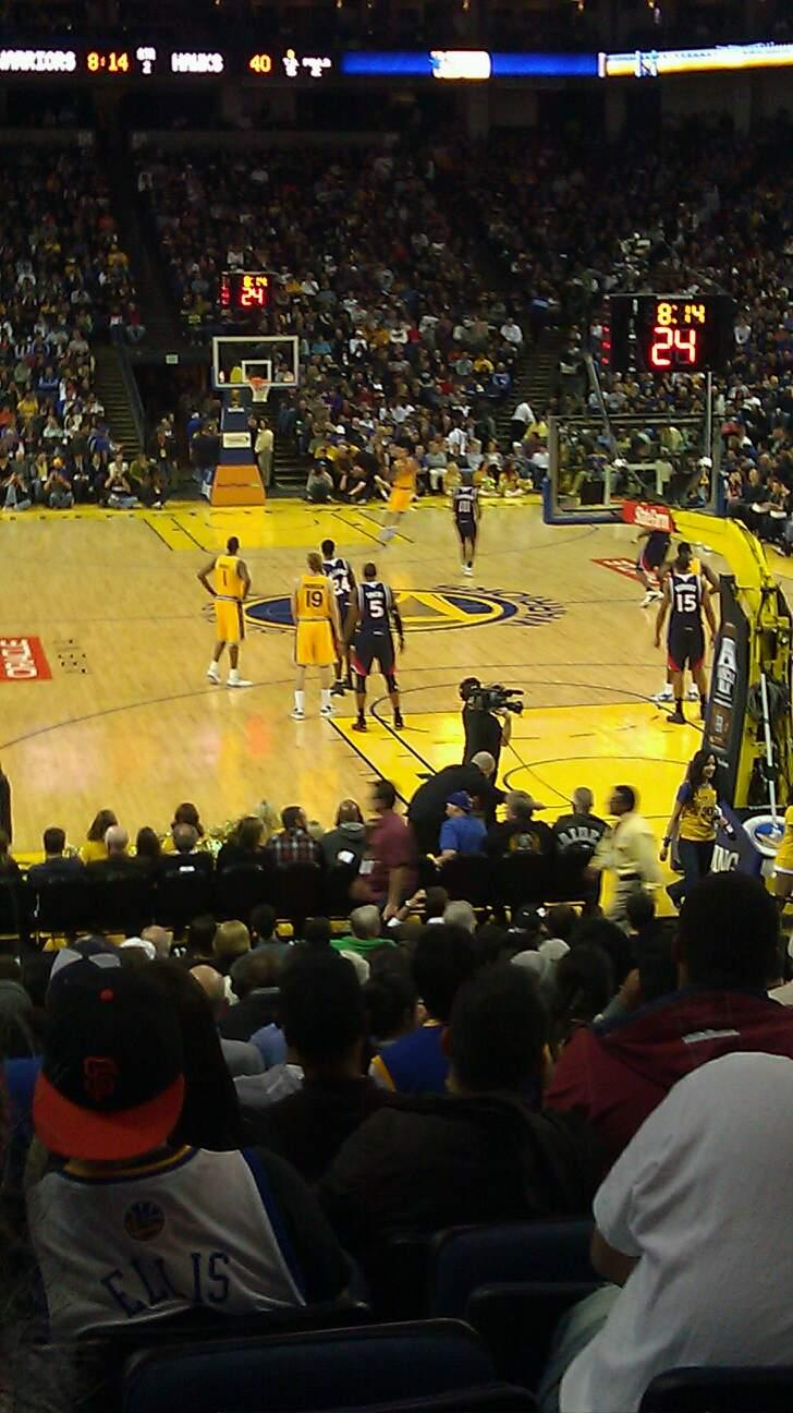 Oracle Arena Section 122 Row 14 Seat 14