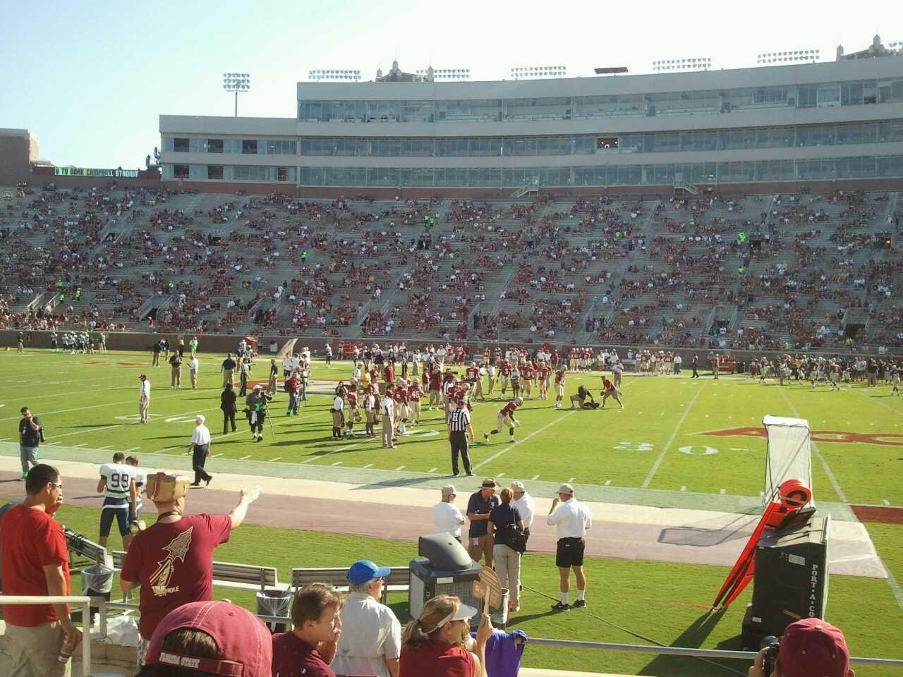 Bobby Bowden Field at Doak Campbell Stadium Section 9 Row 10 Seat 19