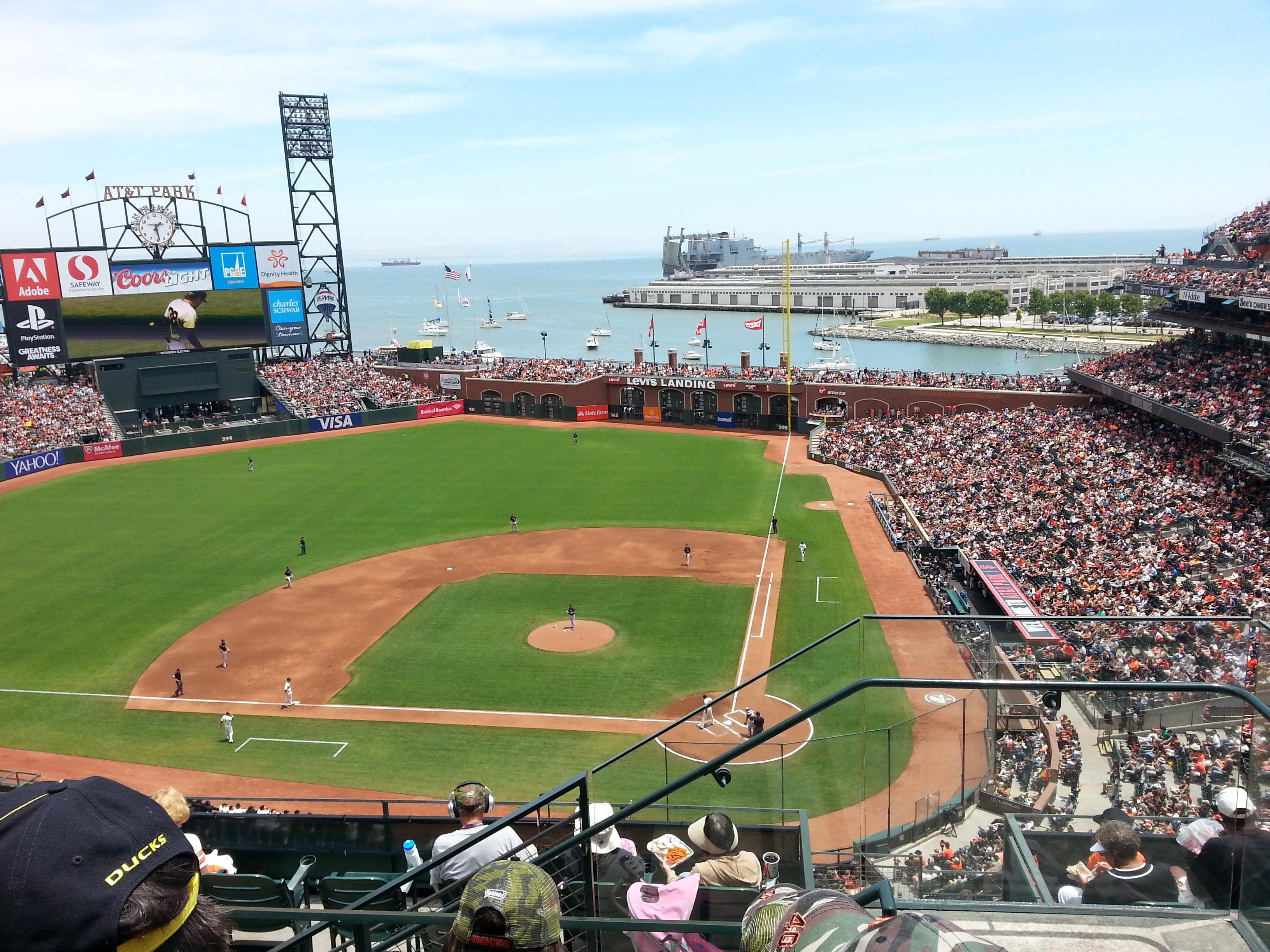 At t park section 320 row 3 seat 1 san francisco giants for Dining options at at t stadium