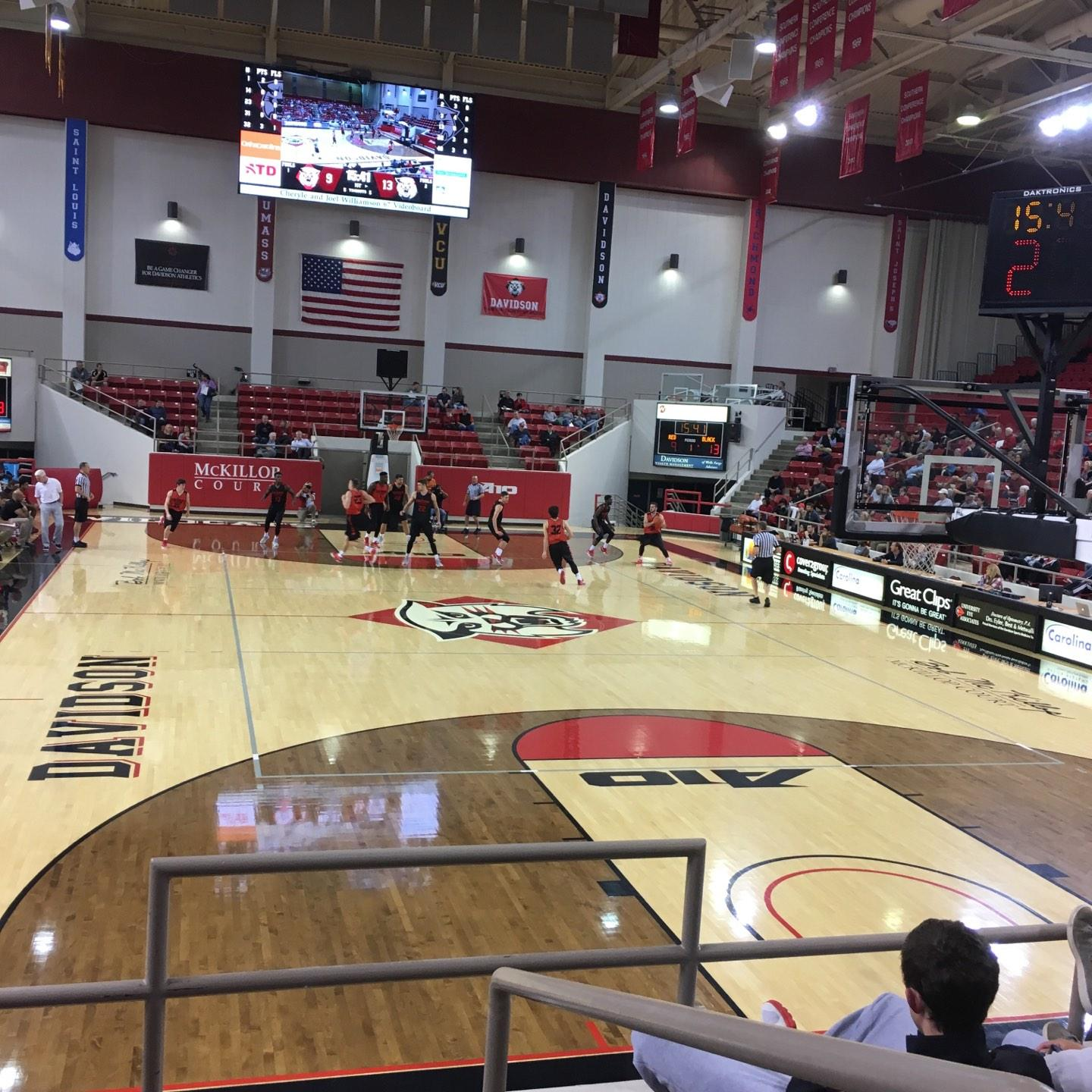 John M. Belk Arena Section 2 Row F Seat 1