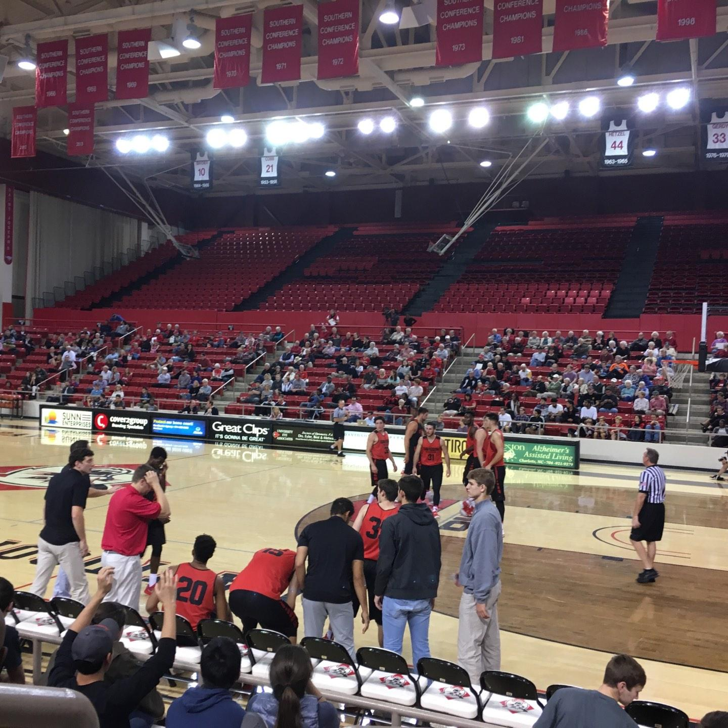 John M. Belk Arena Section 6 Row C Seat 1