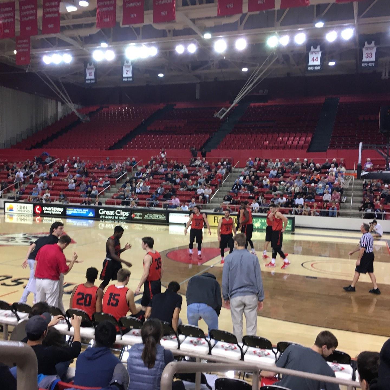 John M. Belk Arena Section 6 Row C Seat 1