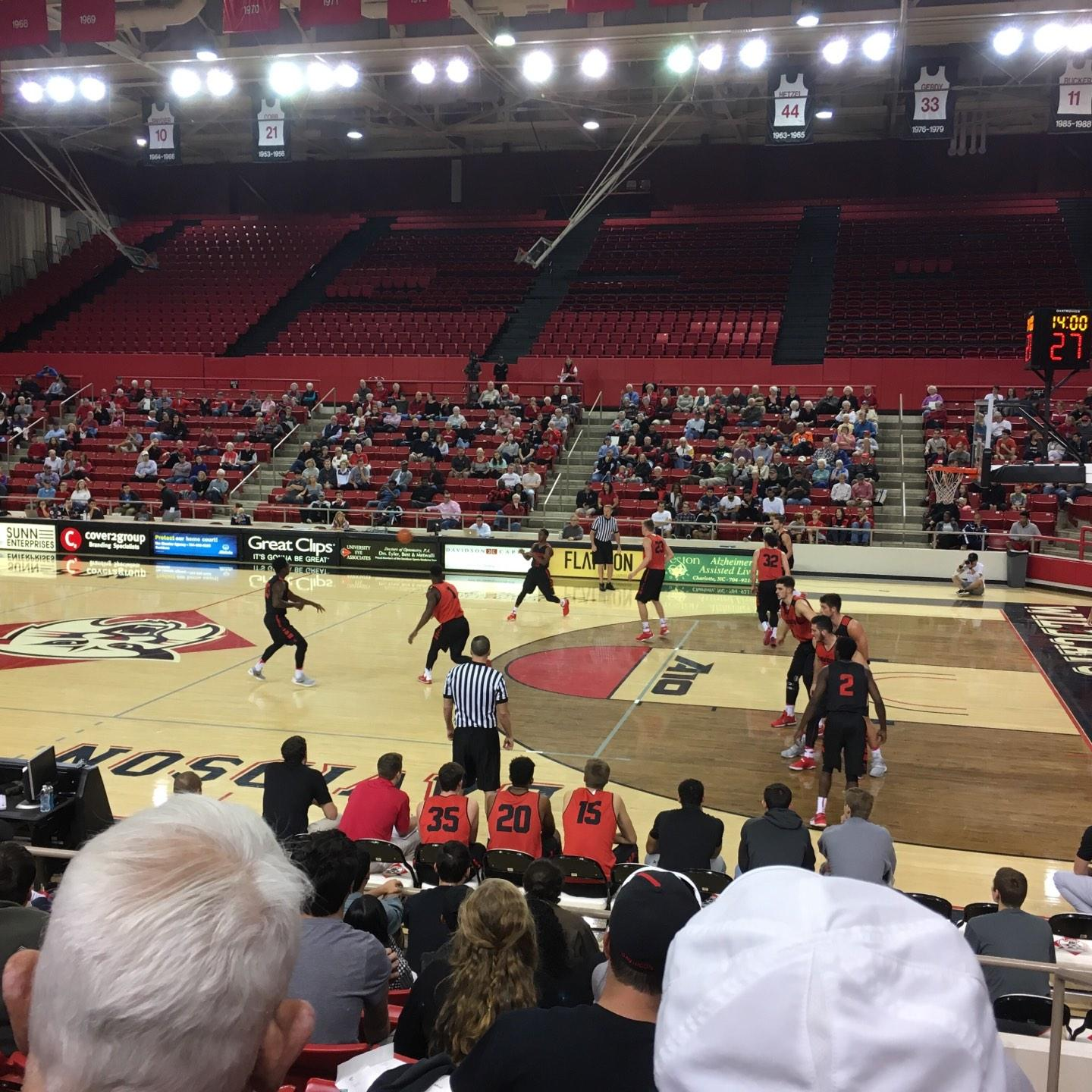 John M. Belk Arena Section 8 Row D Seat 1