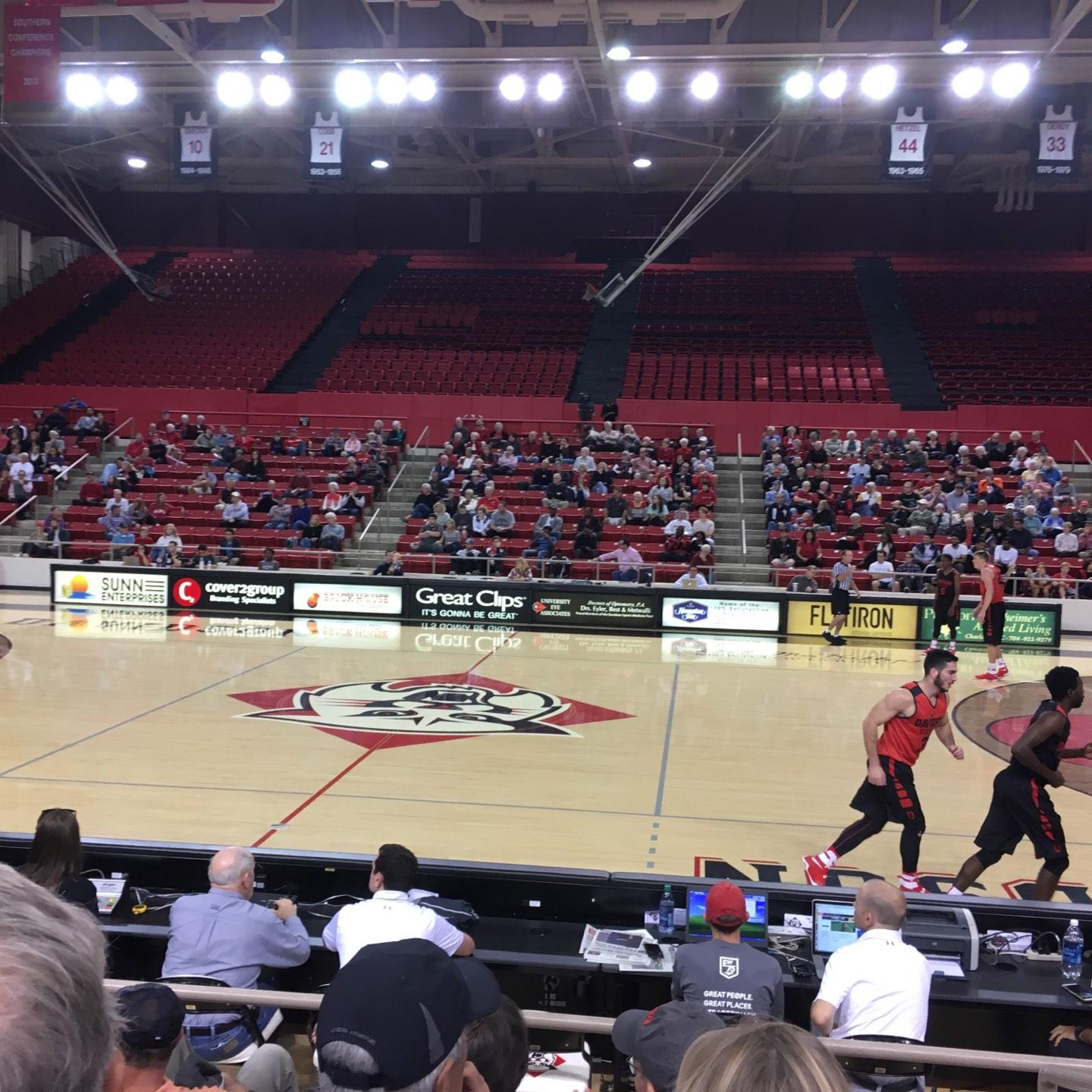 John M. Belk Arena Section 10 Row B Seat 1