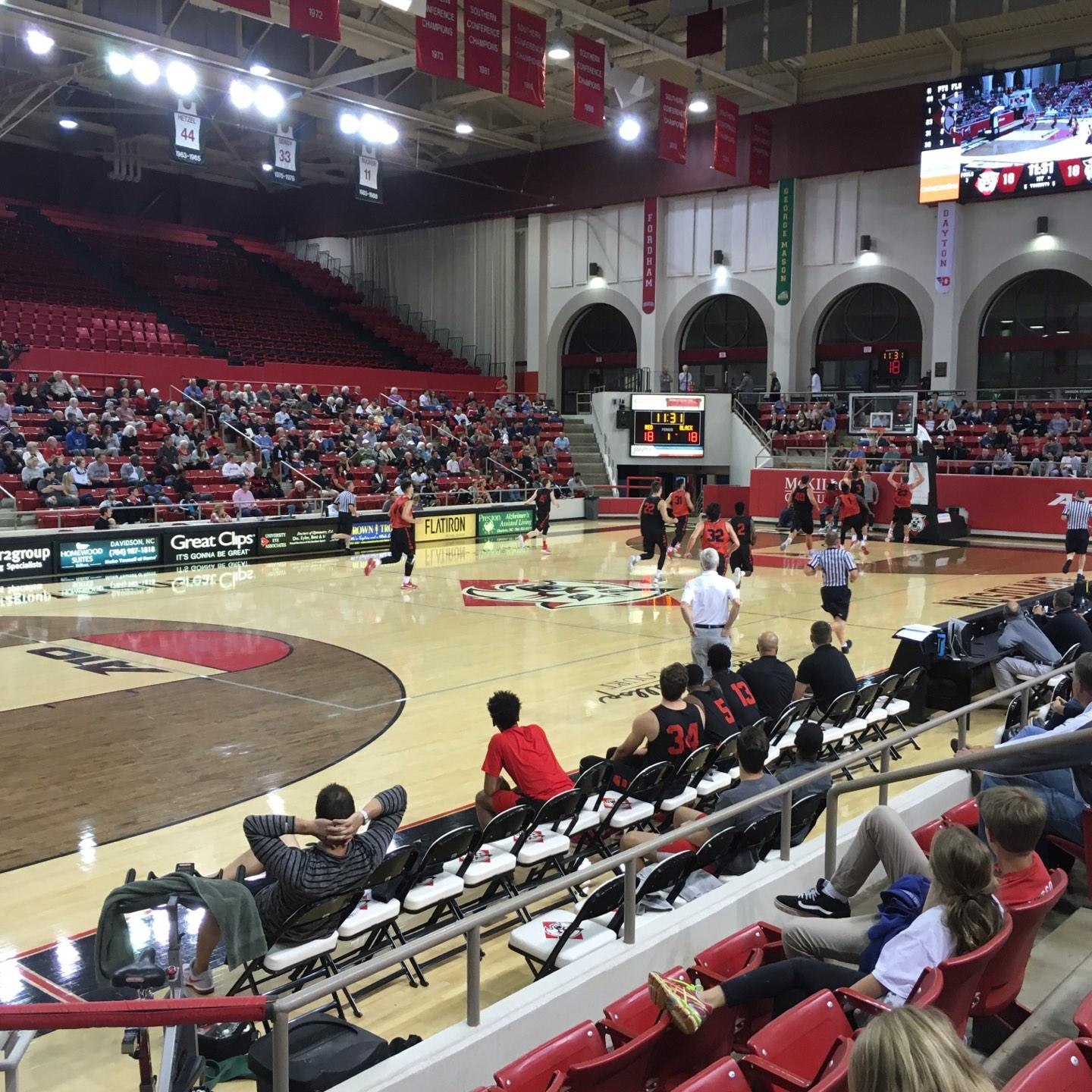 John M. Belk Arena Section 16 Row H Seat 1