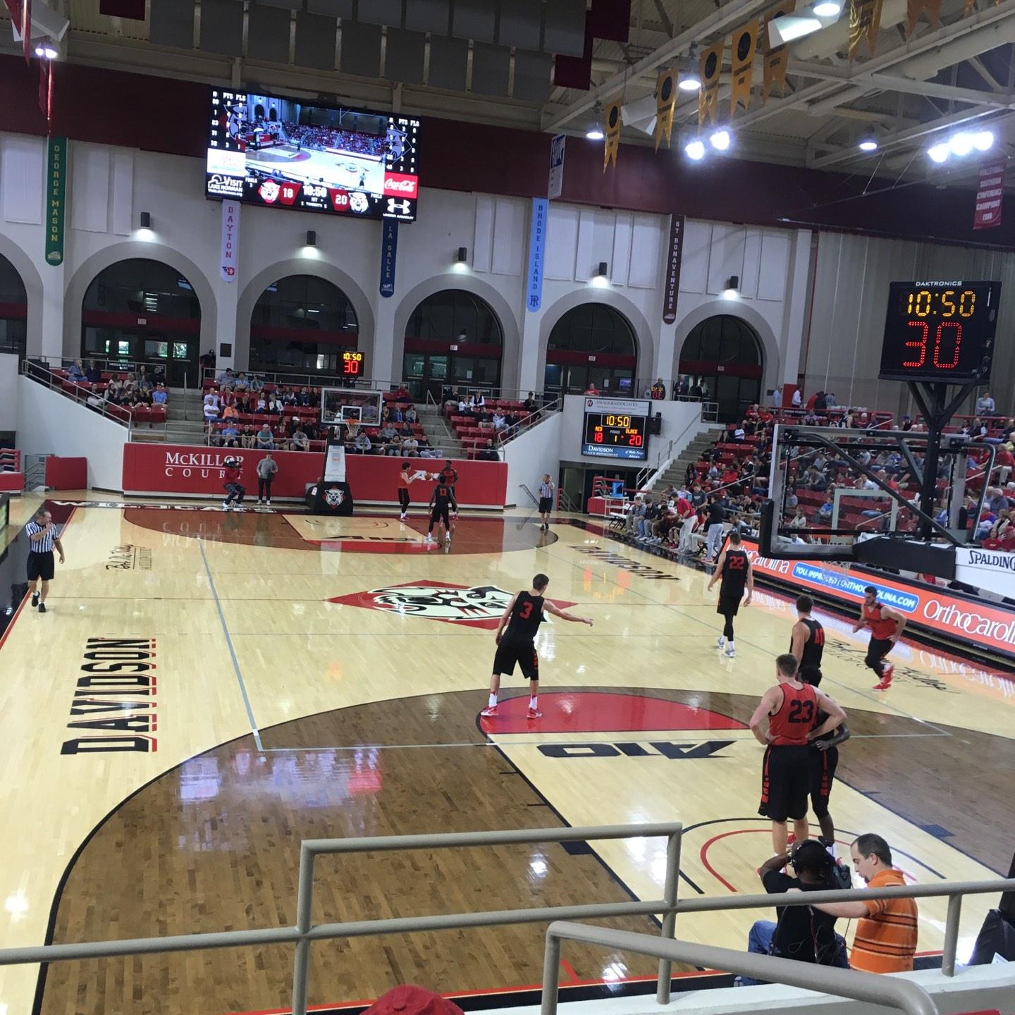 John M. Belk Arena Section 19 Row E Seat 3