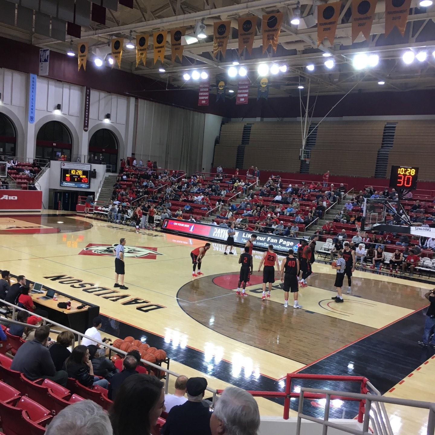 John M. Belk Arena Section 17 Row E Seat 1