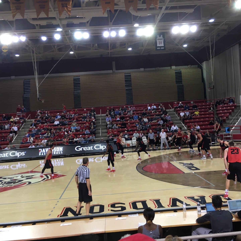 John M. Belk Arena Section 13 Row C Seat 1