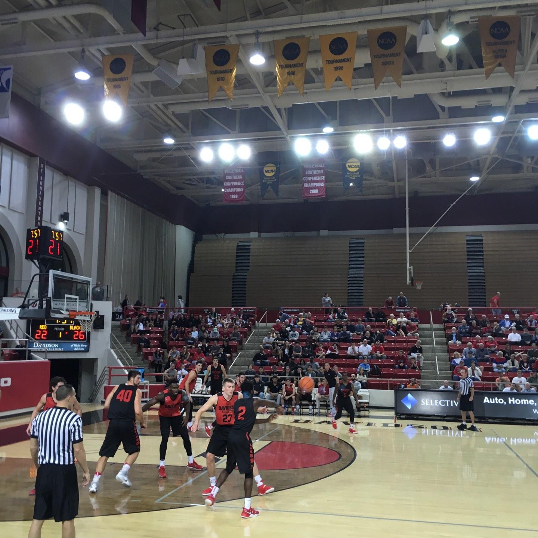 John M. Belk Arena Section 9 Row B Seat 1