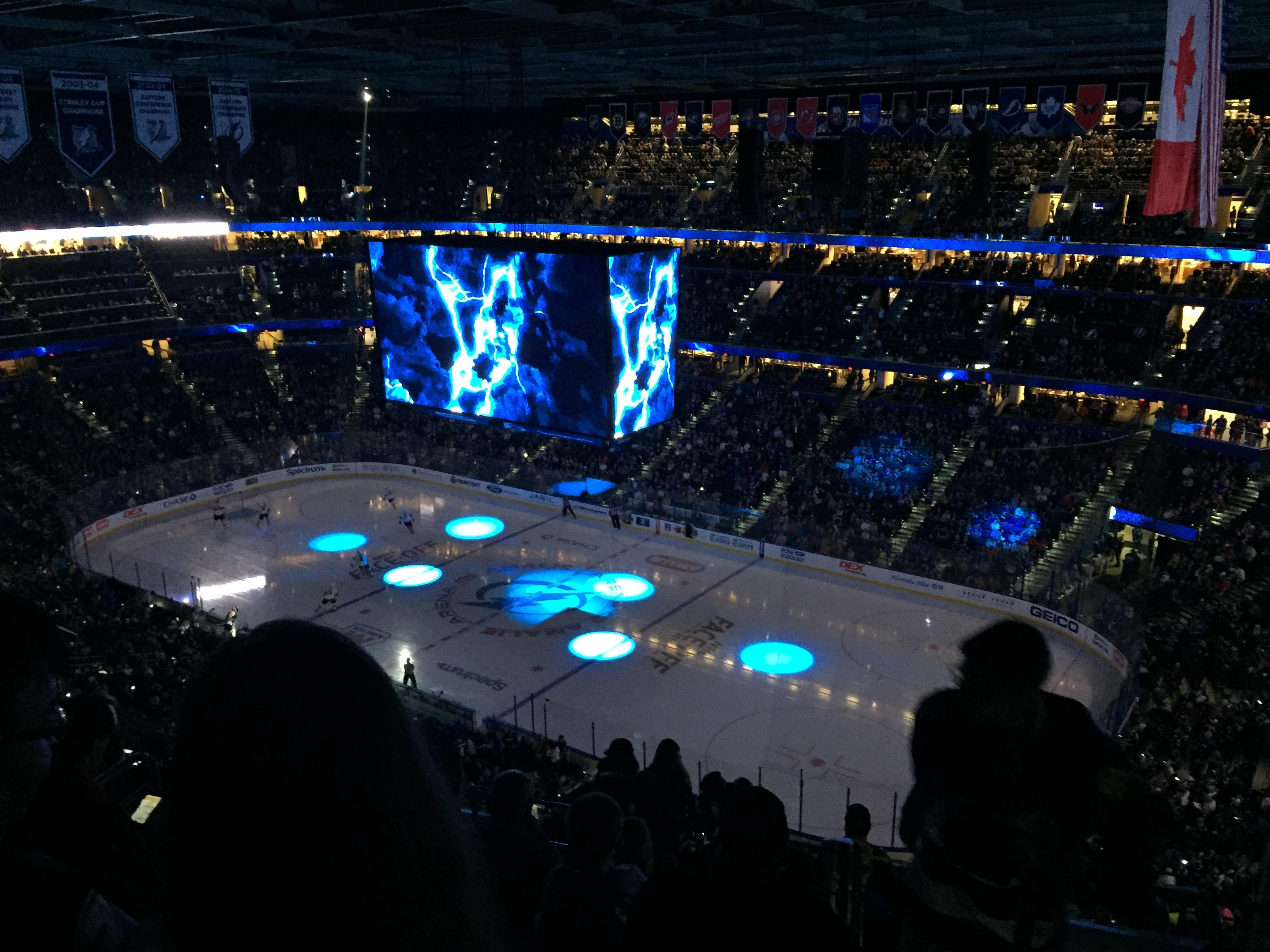 Amalie Arena Section 328 Row K Seat 4