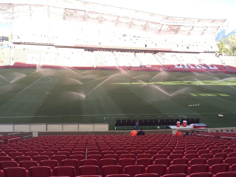Rio Tinto Stadium Section 21 Row V Seat 18