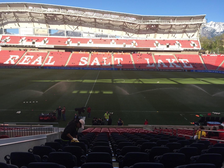 Rio Tinto Stadium Section 19 Row V Seat 6