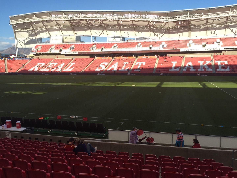Rio Tinto Stadium Section 17 Row M Seat 5