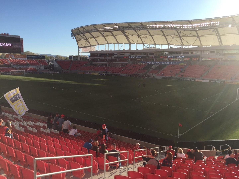 Rio Tinto Stadium Section 33 Row U Seat 19