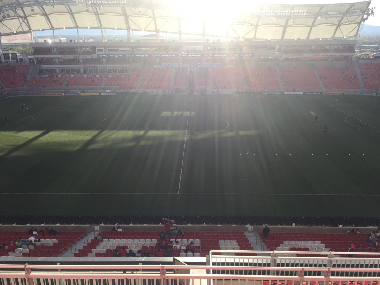 Rio Tinto Stadium Section 201 Row H Seat 10