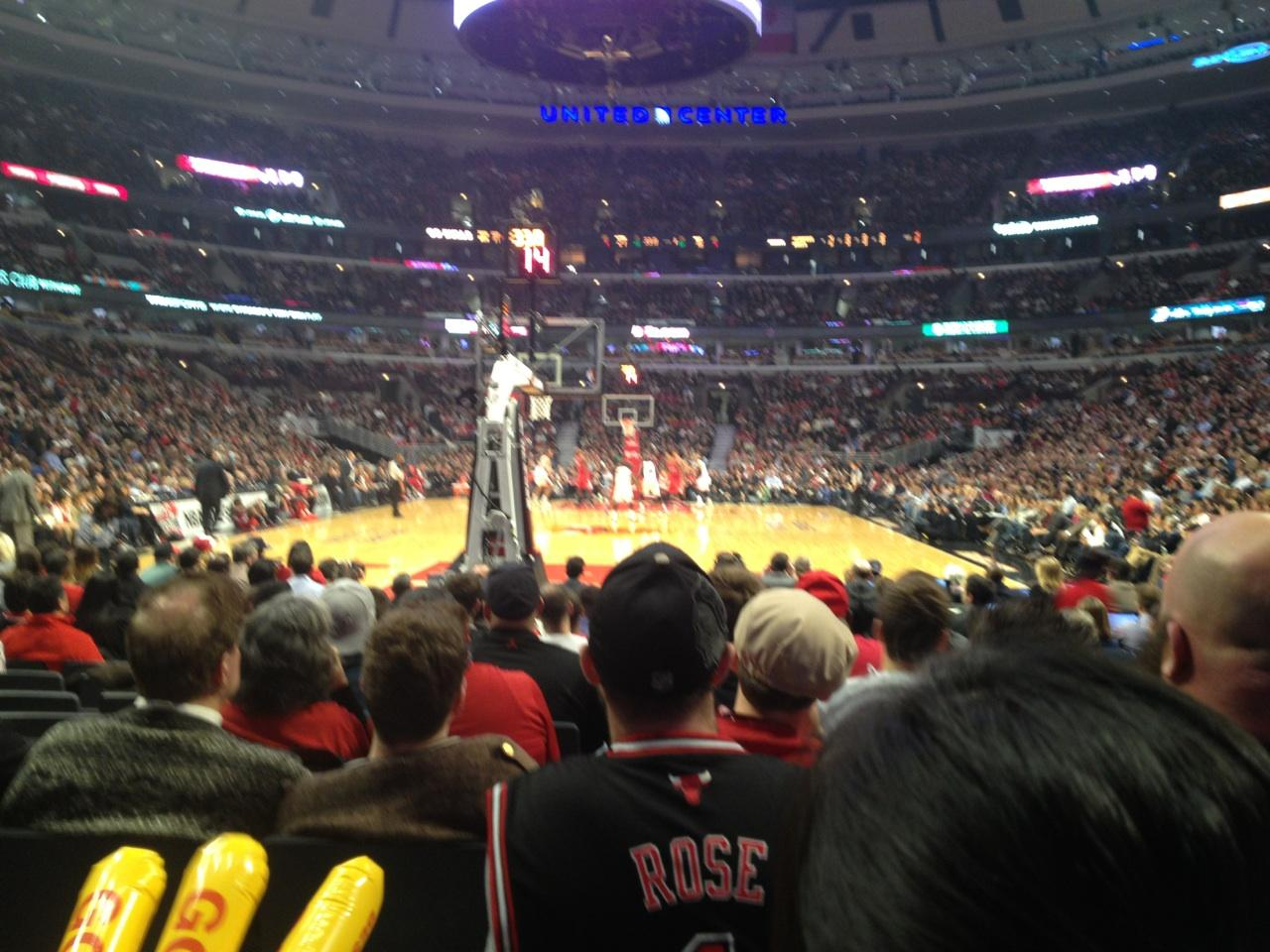 United Center Section 117 Row K Seat 2 Chicago Bulls Vs