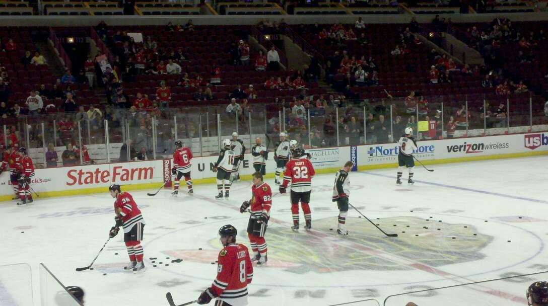 United Center Section 101 Row 5 Seat 21