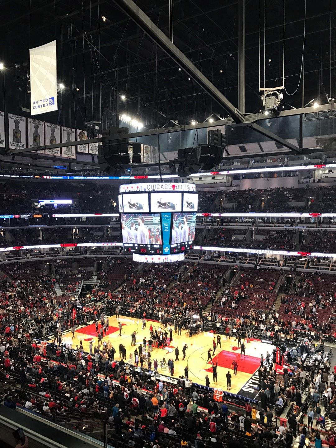 United Center Section 332 Row 3 Seat 4