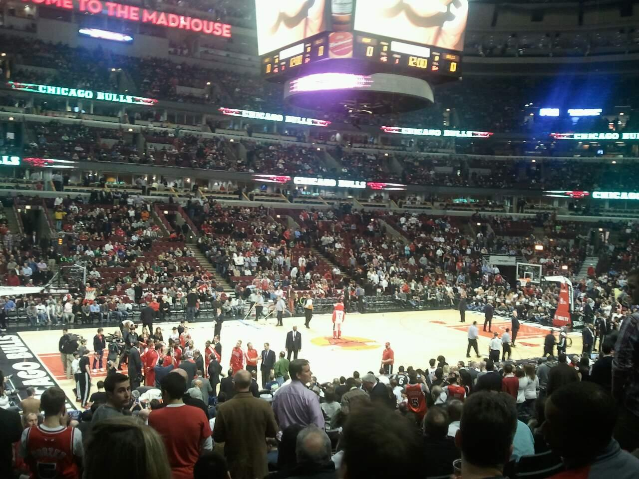 United Center Section 102 Row 18 Seat 11