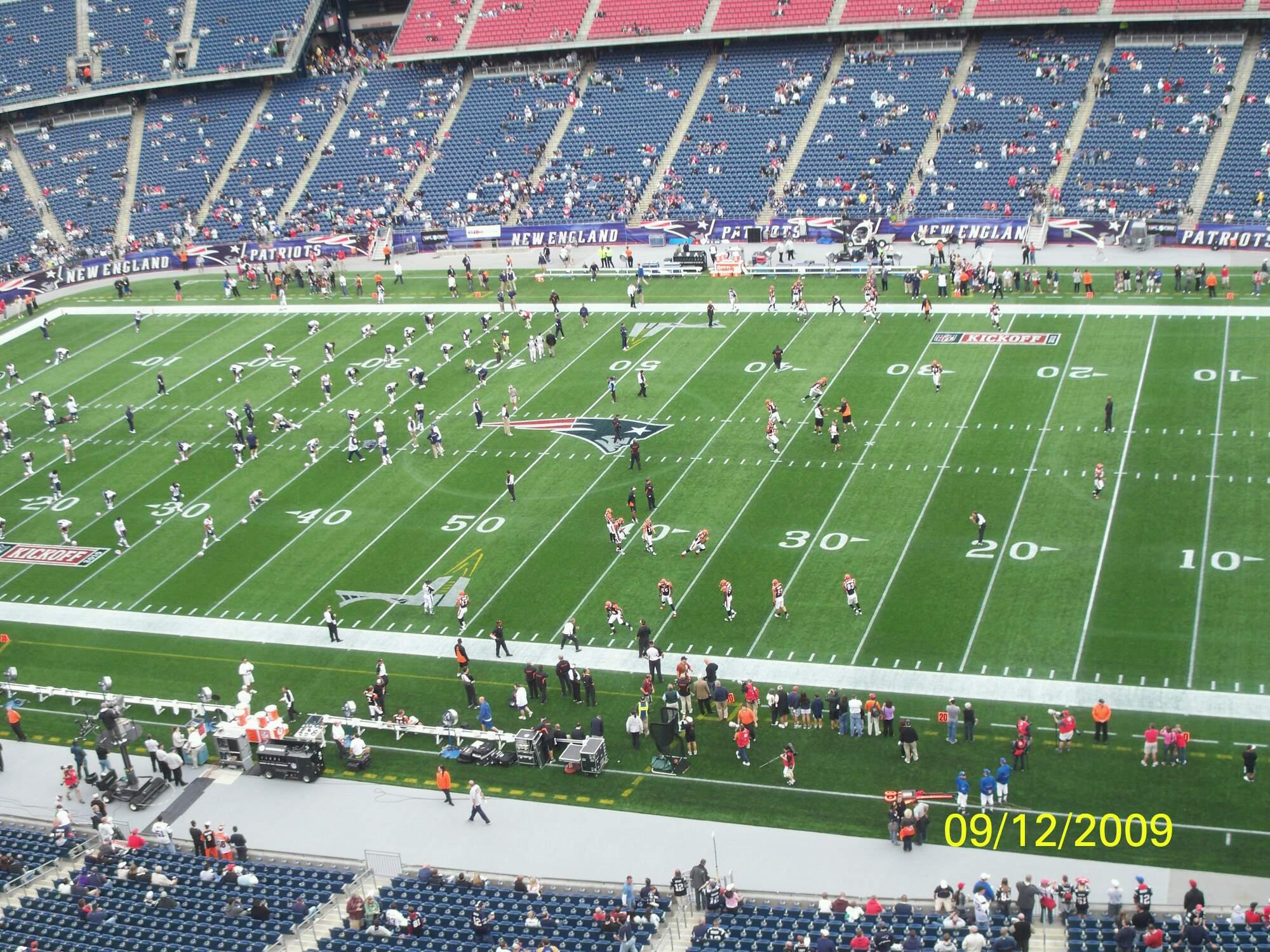 Gillette Stadium Section 326 Row 2