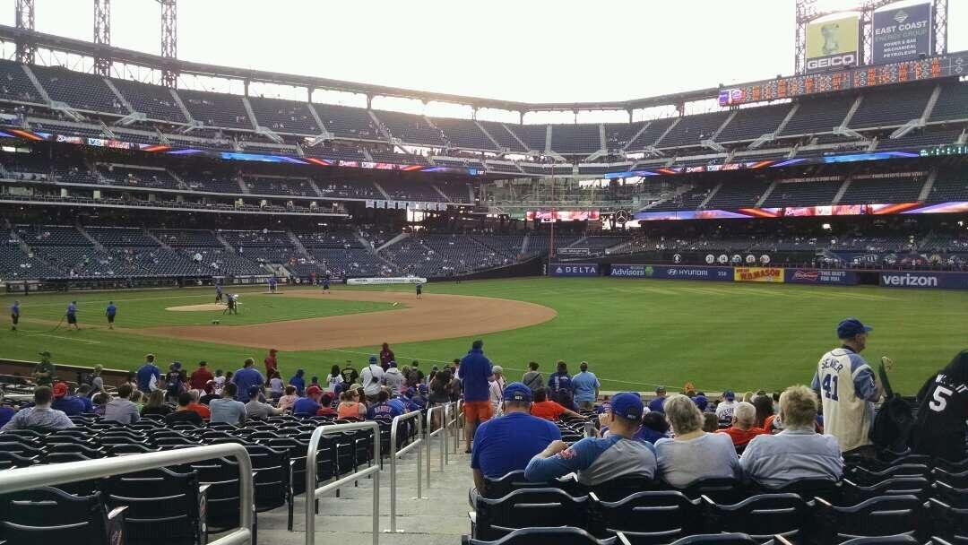 Citi Field Section 109 Row 20 Seat 1