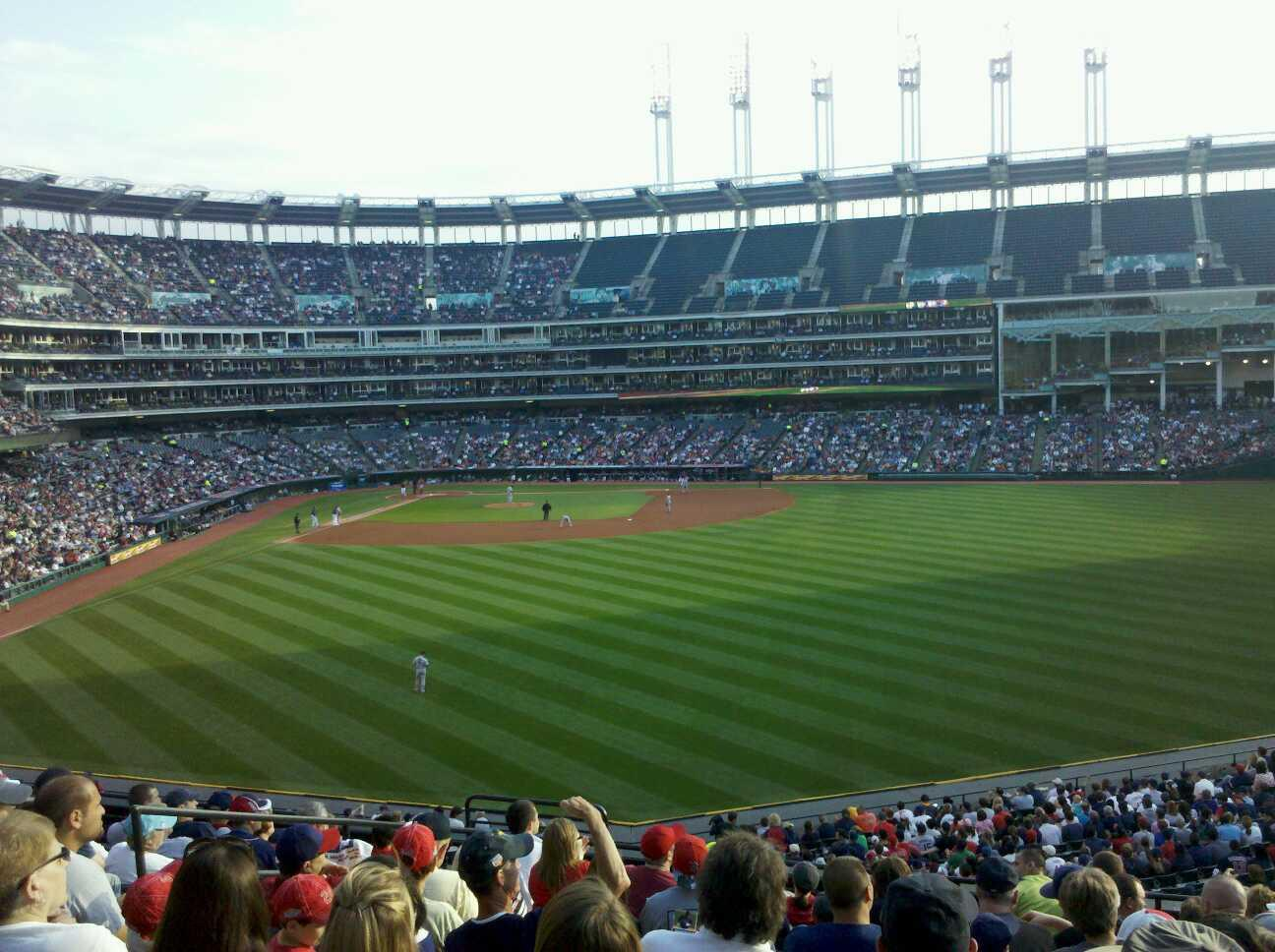 Progressive Field Section 304 Row L  Seat 18