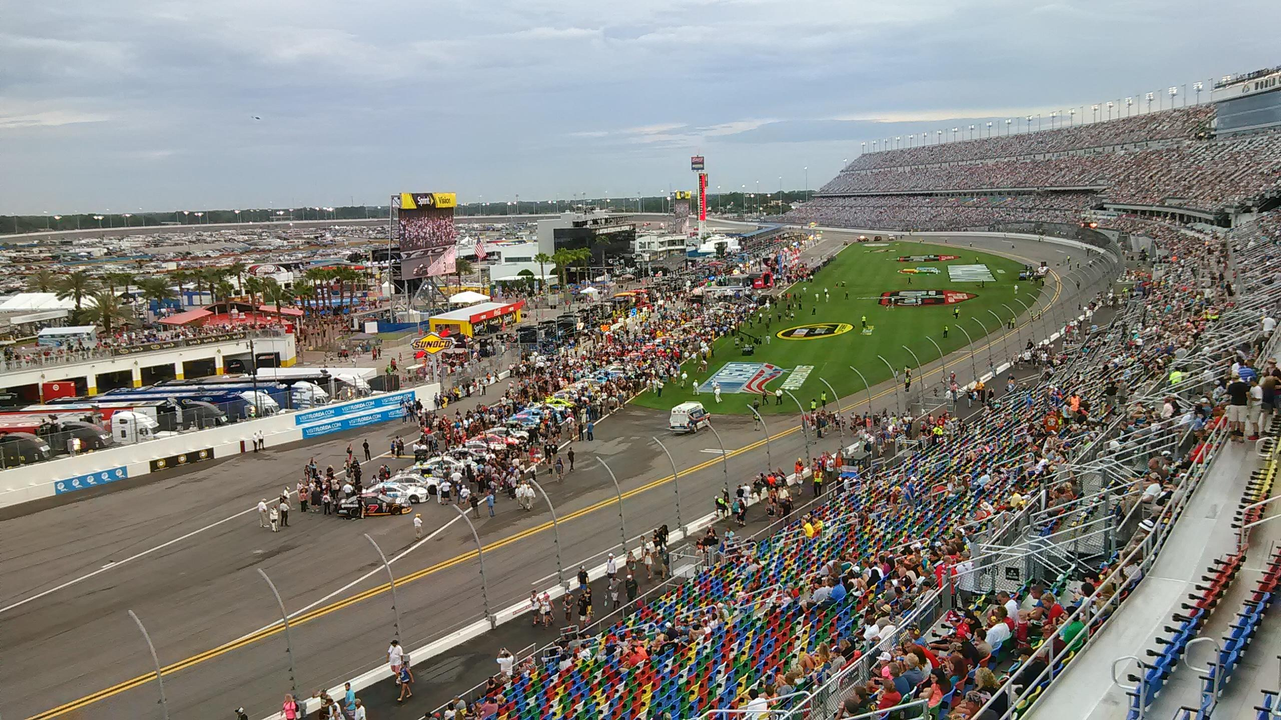 Daytona International Speedway Section 423 Row 24 Seat 4a