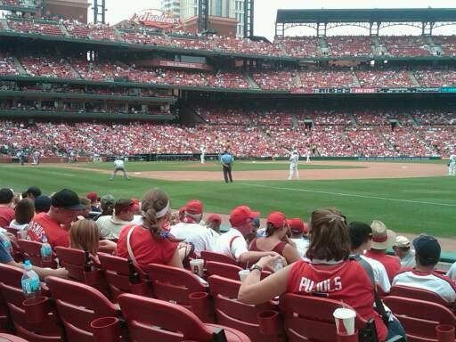 Busch Stadium Section 136B Row K Seat 1