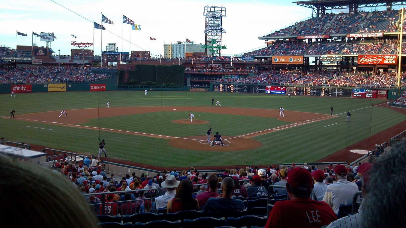 Citizens Bank Park Section 125 Row 32 Seat 4