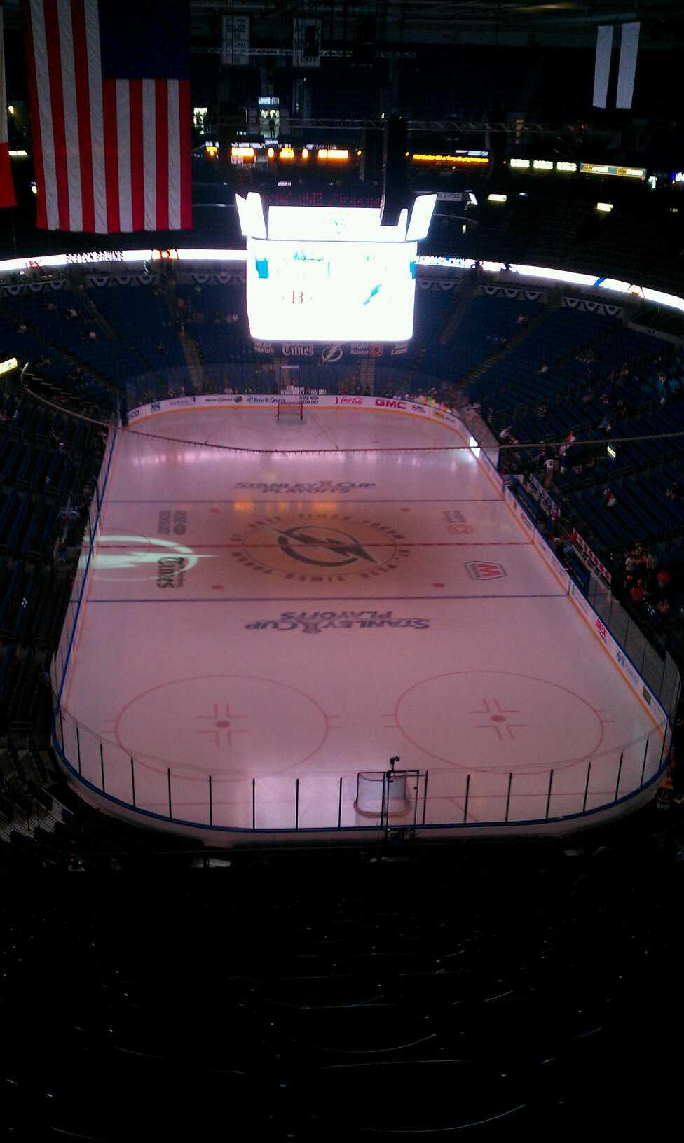 Amalie Arena Section 309 Row R Seat 10