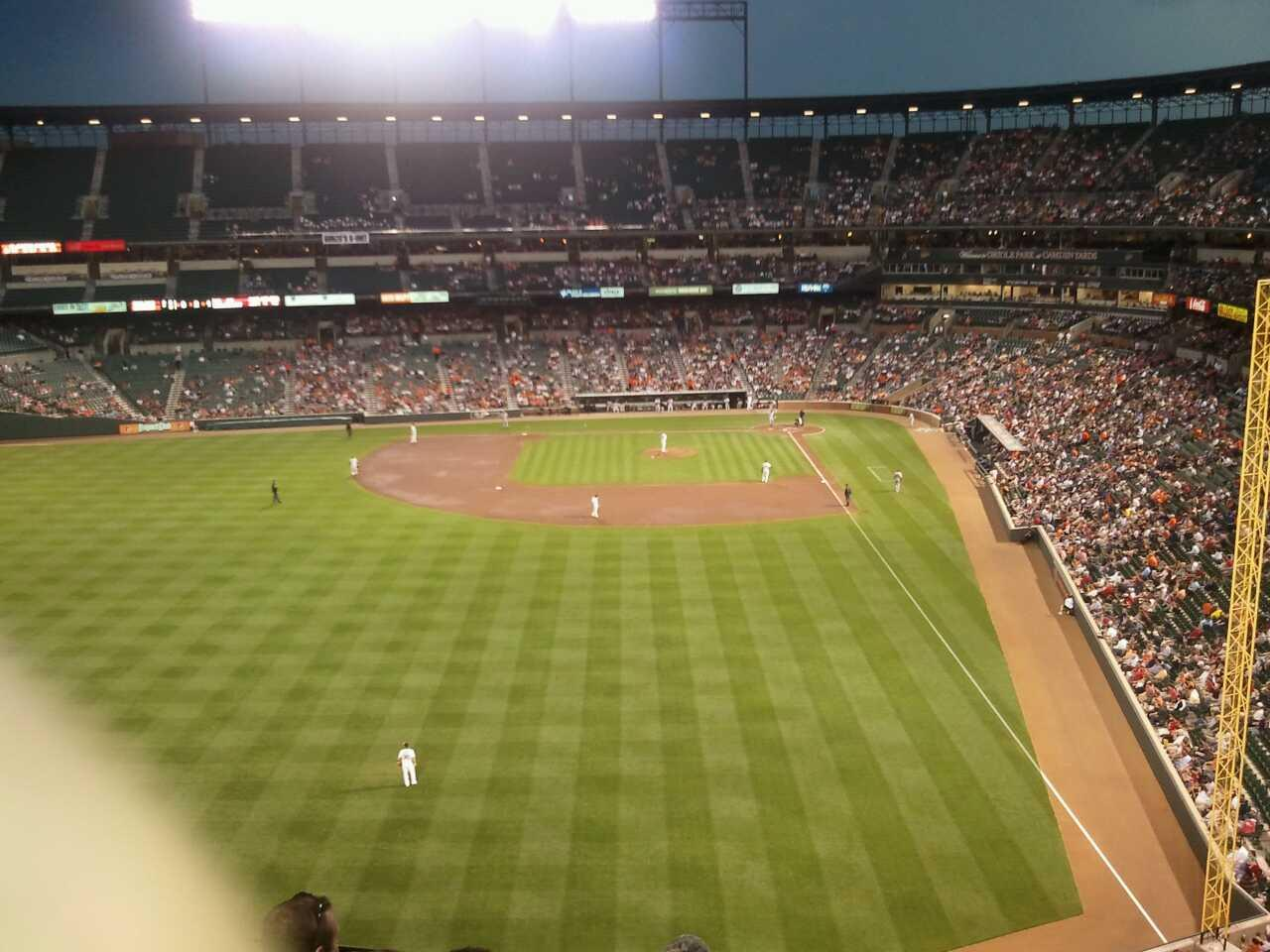 Oriole Park at Camden Yards Section 384 Row 4 Seat 15
