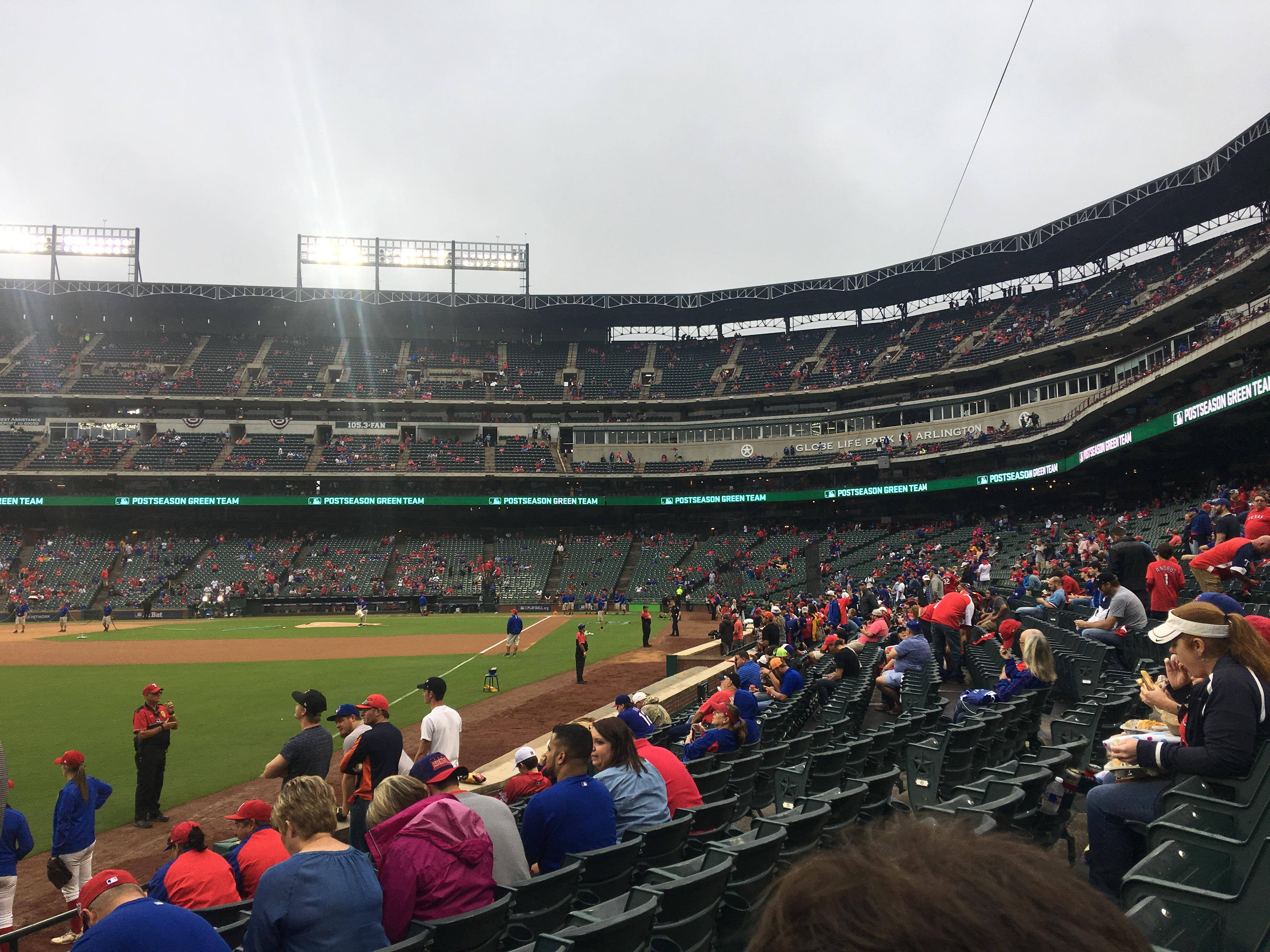 Globe Life Park in Arlington Section 12 Row 8 Seat 1