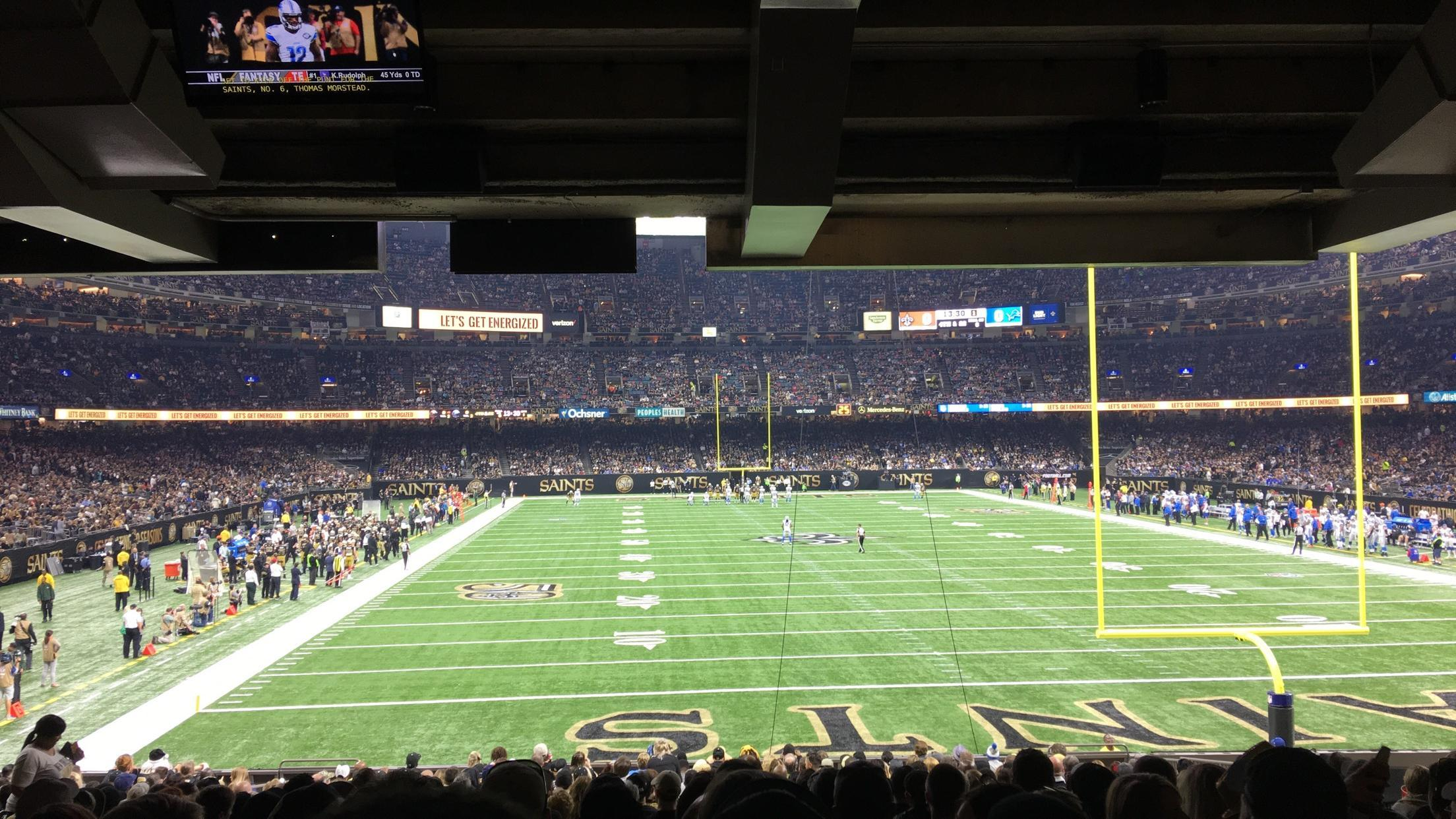 Mercedes-Benz Superdome Section 129 Row 25 Seat 12