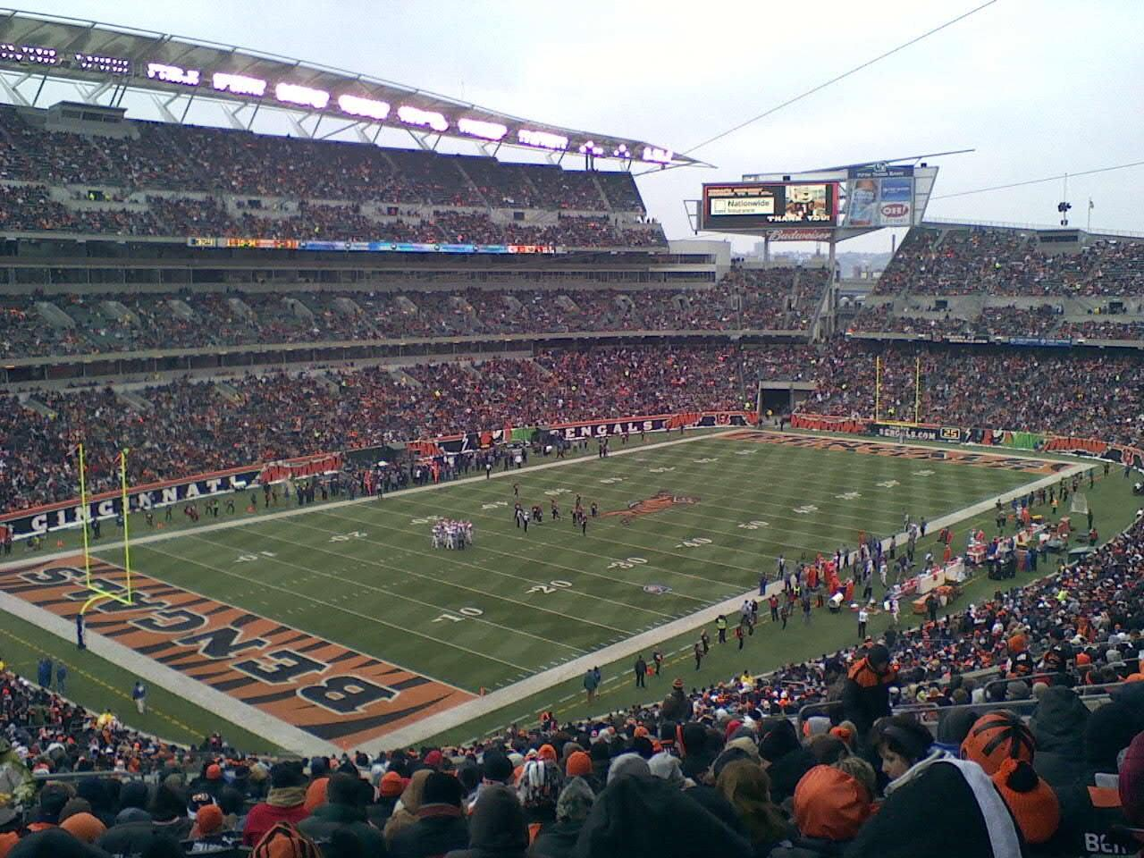 Paul Brown Stadium Section 248 Row 25 Seat 9