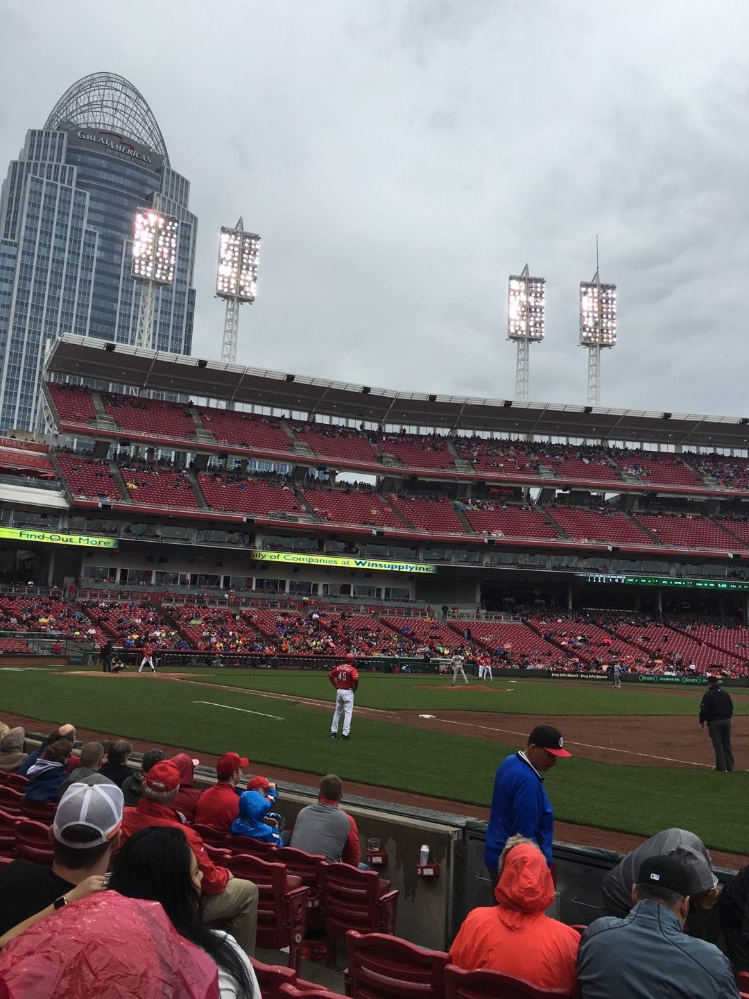 Great American Ball Park Section 136 Row 6 Seat 7