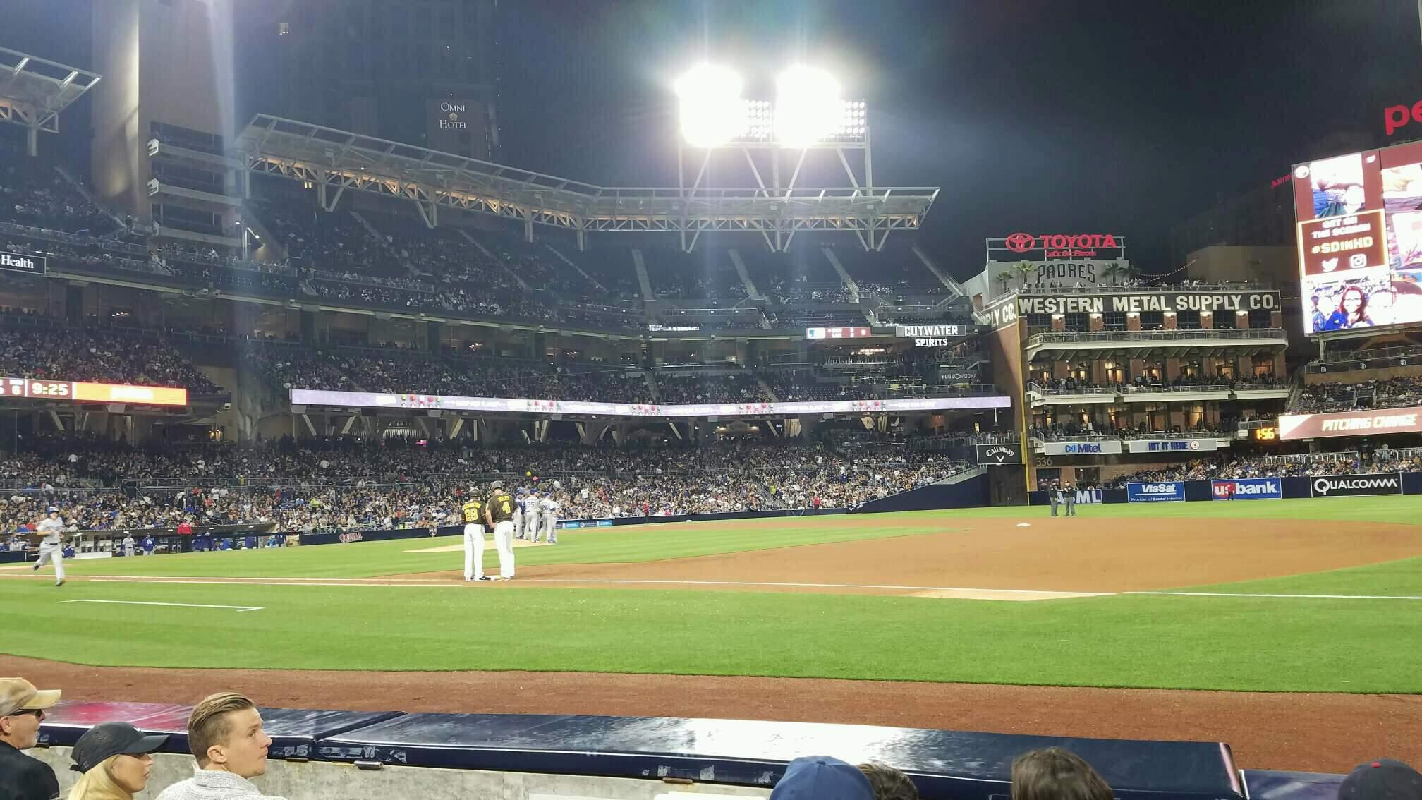 PETCO Park Section 113 Row 4 Seat 8