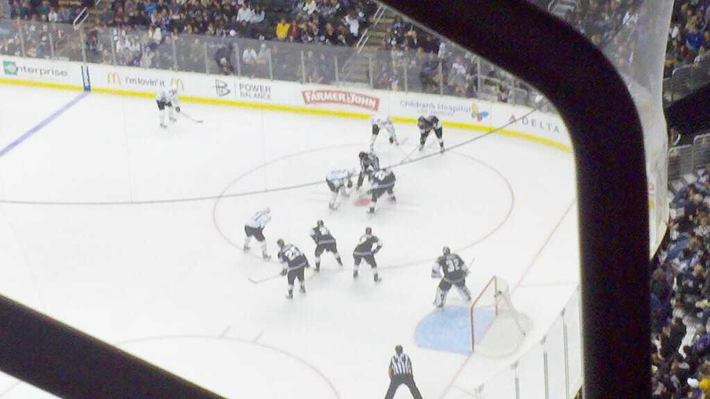 Staples Center Section 316 Row 3 Seat 1