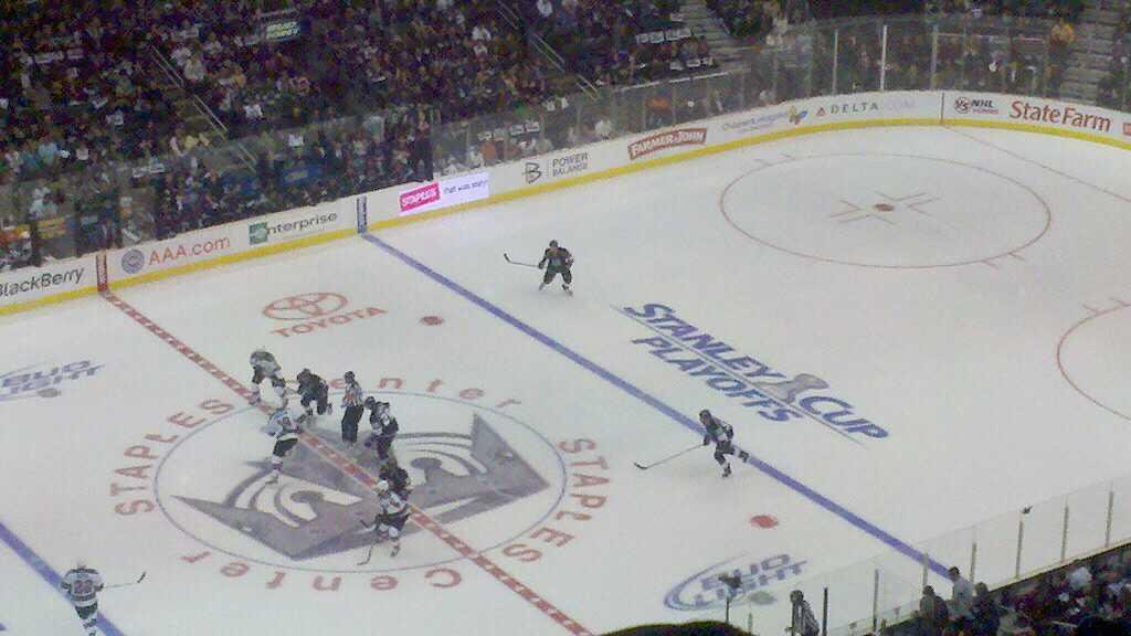 Staples Center Section 320 Row 10 Seat 21