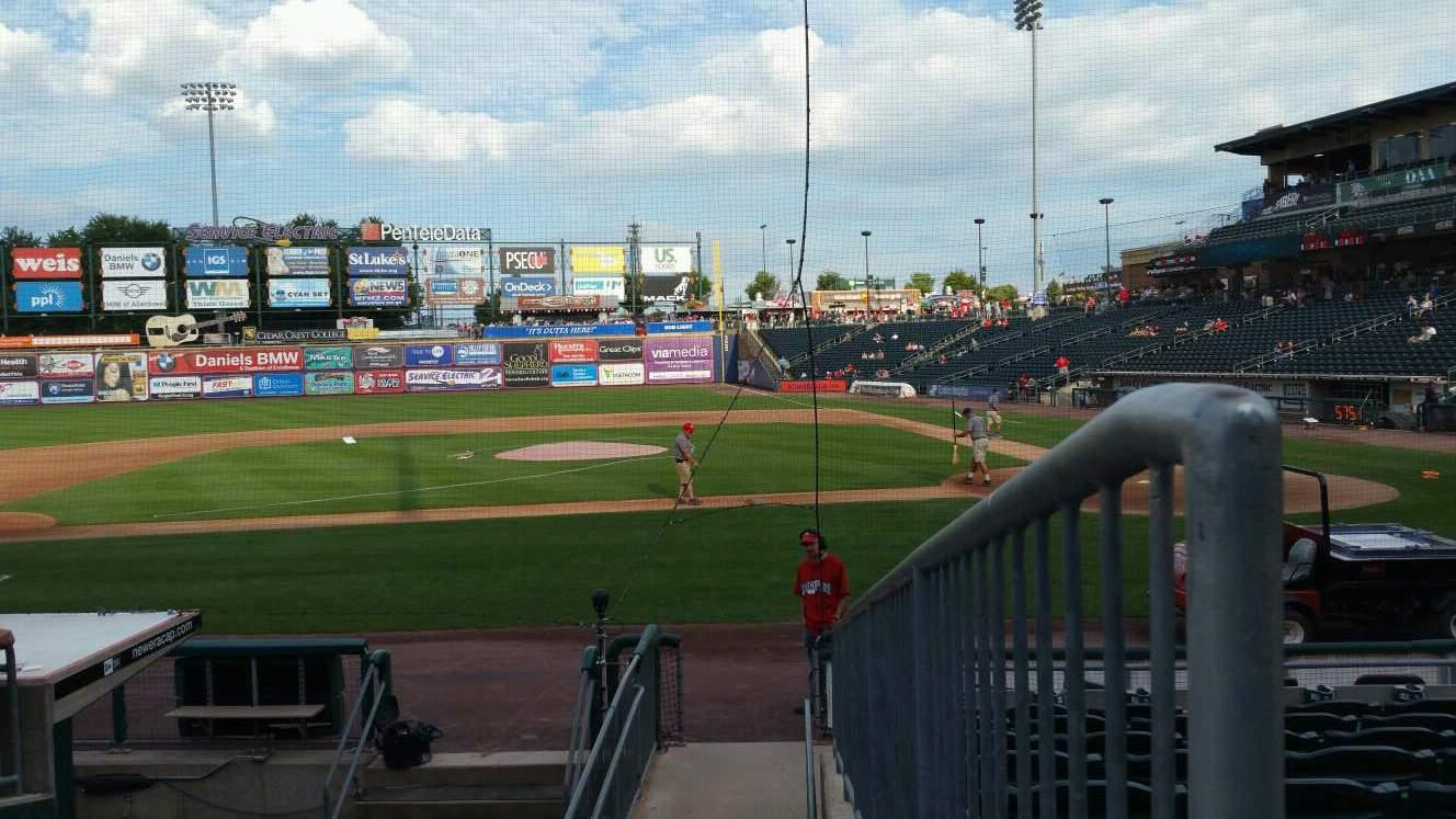 Coca-Cola Park Section 116 Row L Seat 13