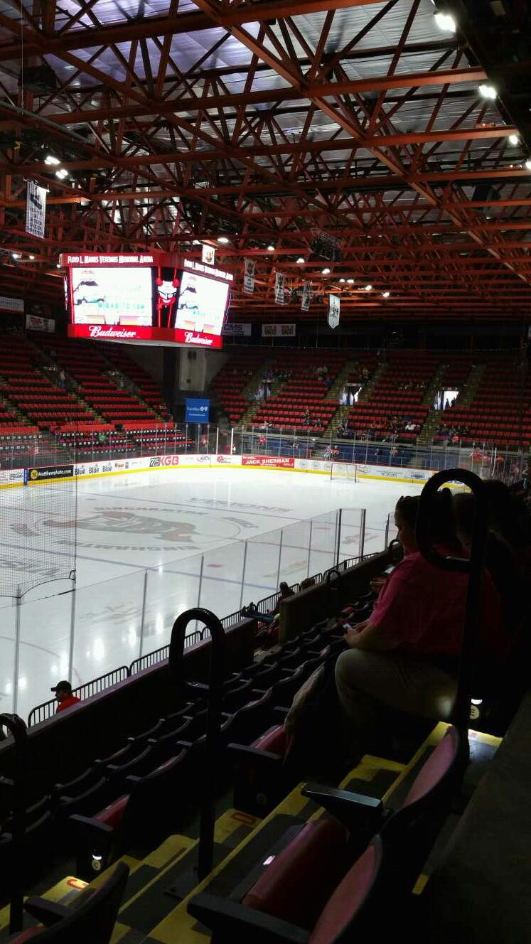 Floyd L. Maines Veterans Memorial Arena Section 19 Row F Seat 1