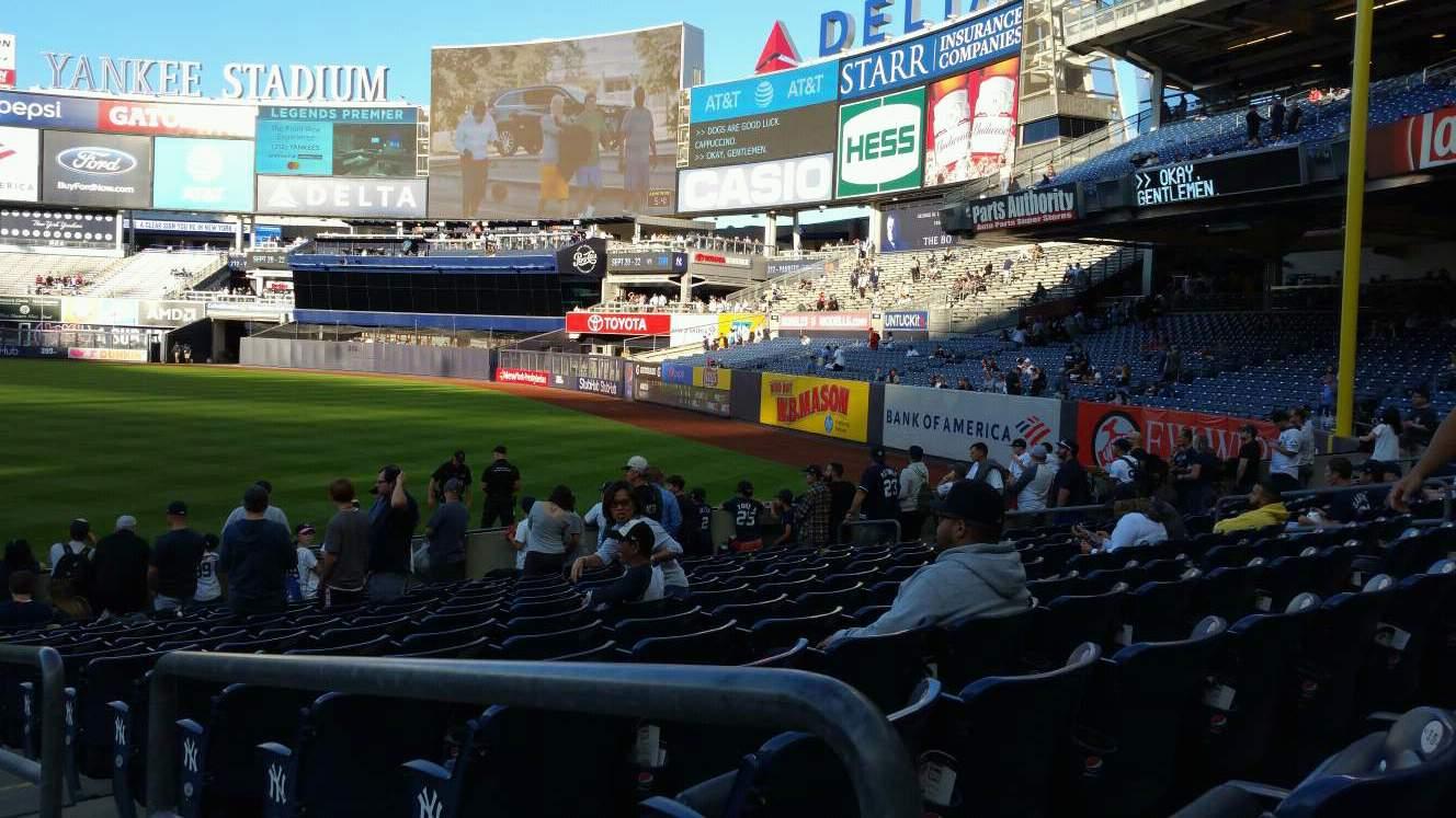 Yankee Stadium Section 111 Row 15 Seat 1