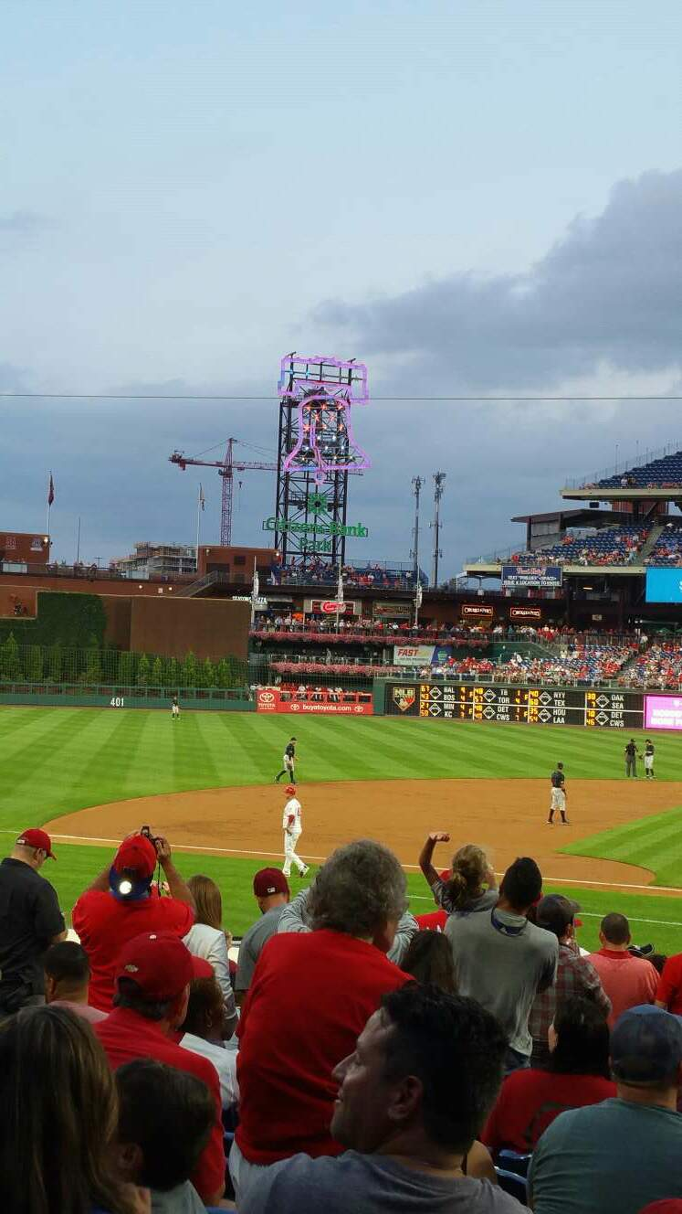 Citizens Bank Park Section 130 Row 21 Seat 10