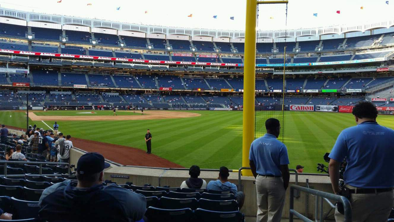 Yankee Stadium section 108 row 9 seat 1 - New York Yankees ...