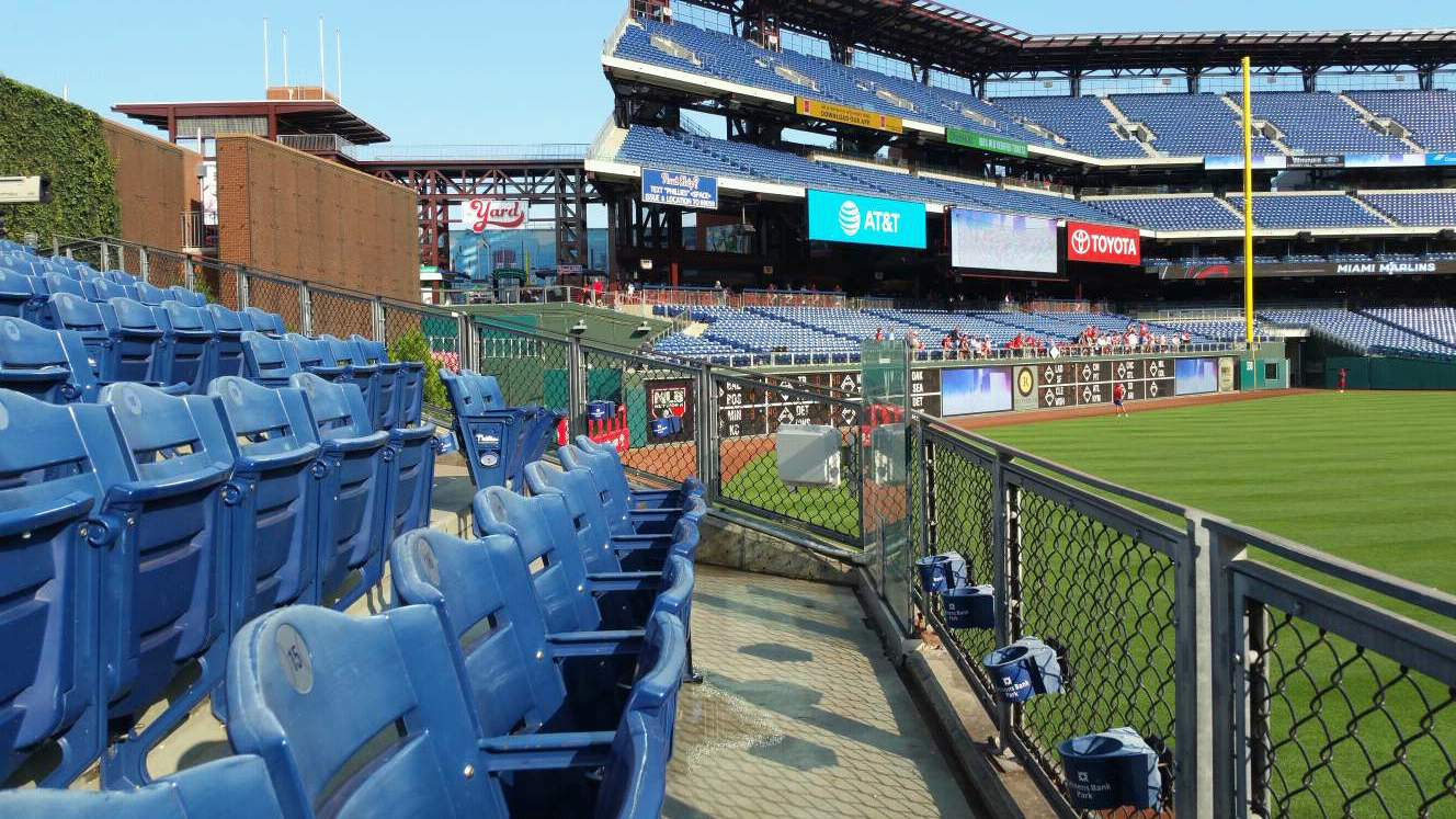 Citizens Bank Park Section 147 Row 4 Seat 12
