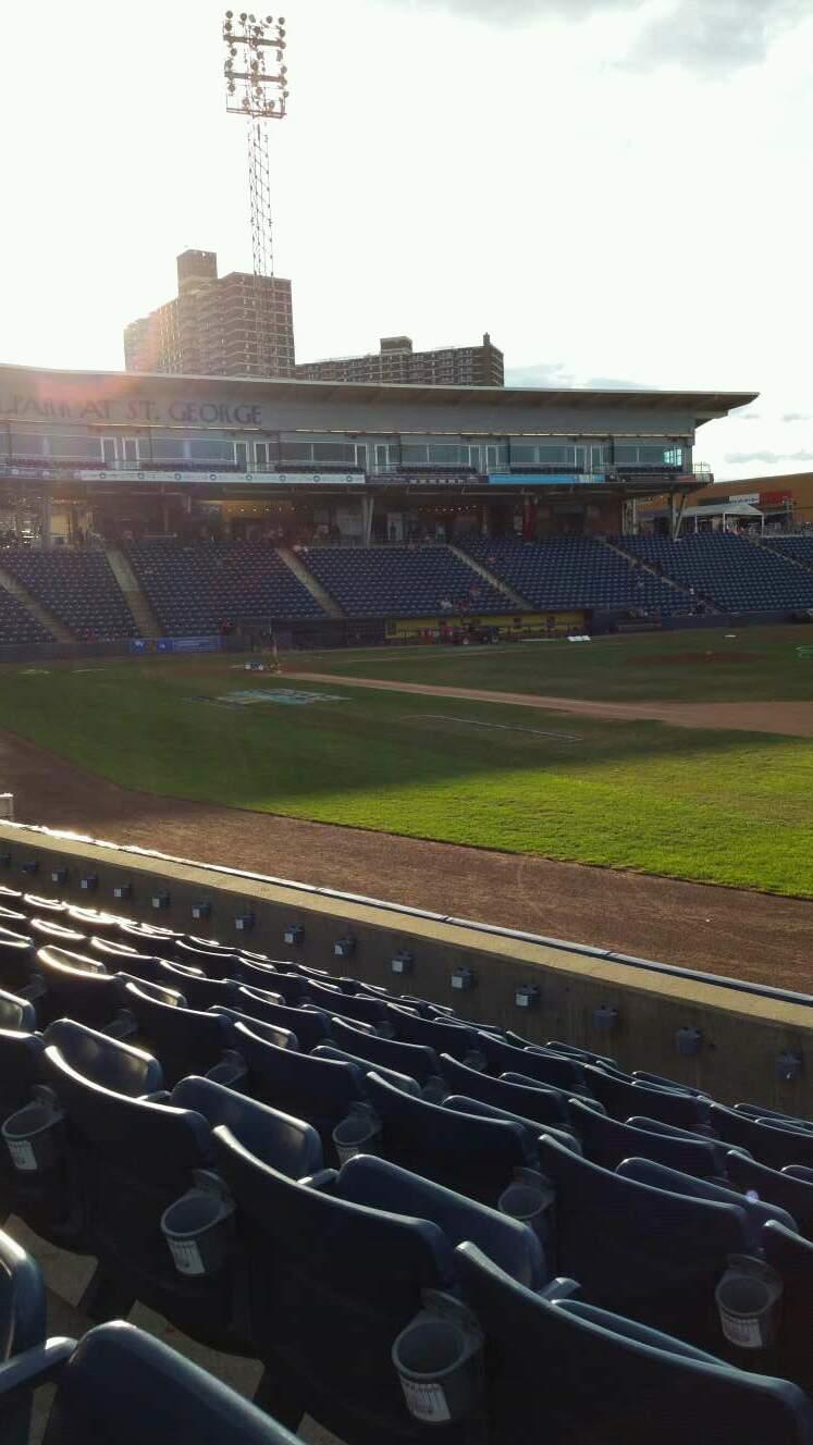 Richmond County Bank Ballpark Section 14 Row G Seat 1