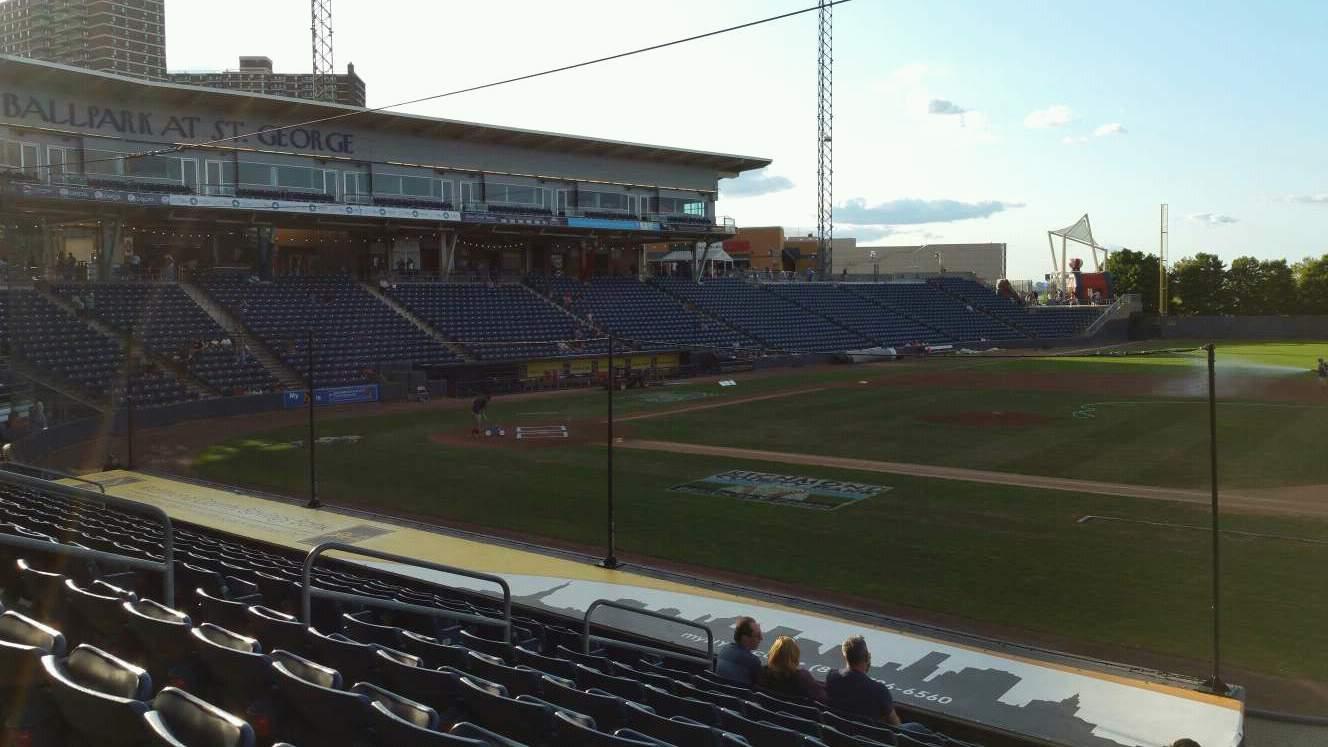 Richmond County Bank Ballpark Section 13 Row P Seat 13