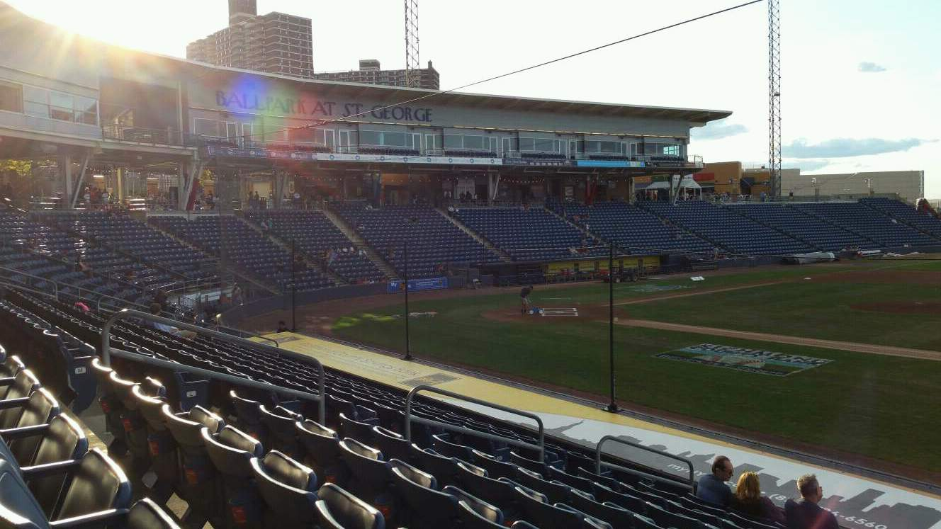 Richmond County Bank Ballpark Section 13 Row P Seat 13